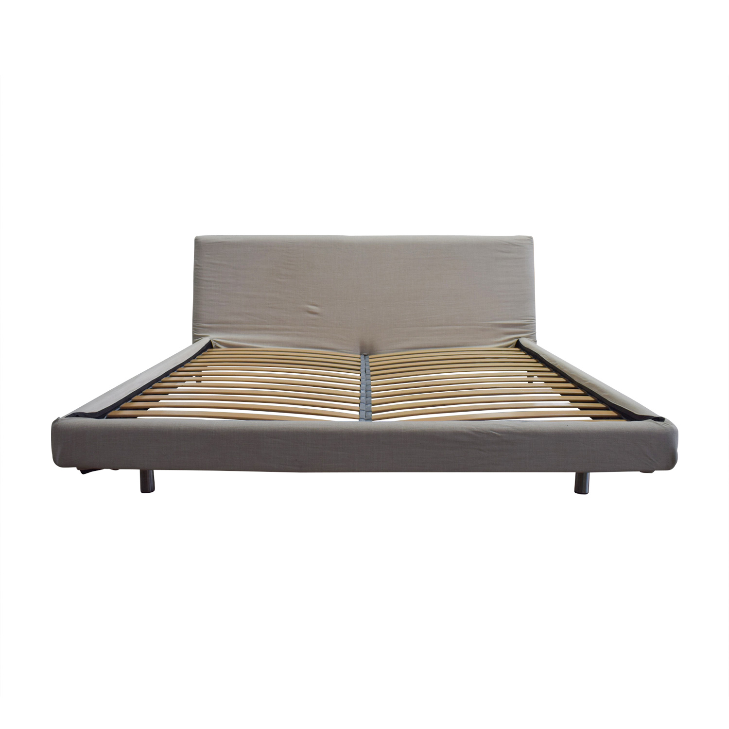 Design Within Reach Design Within Reach Reva Oatmeal Fabric Platform King Bed Frame discount