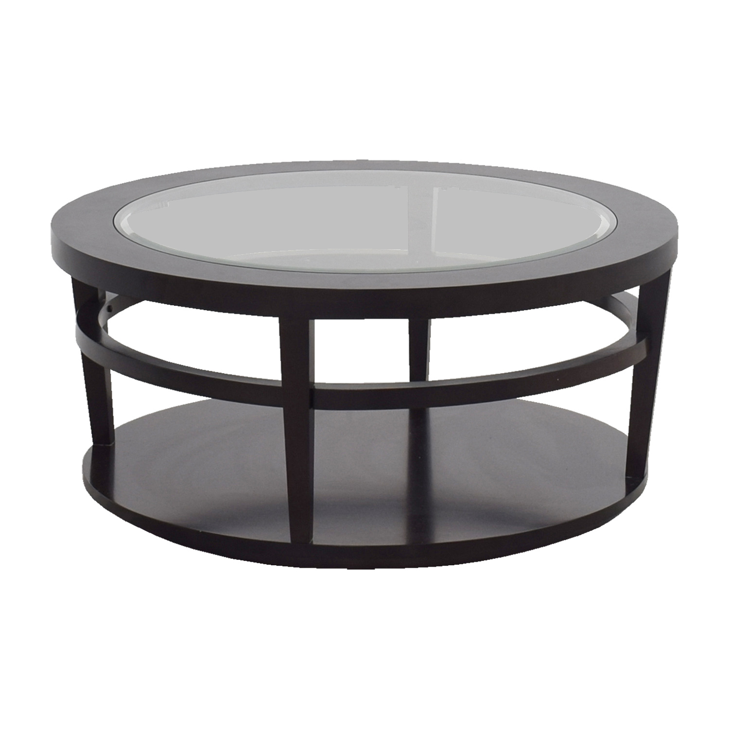 OFF Macy s Macy s Avalon Round Glass and Wood Coffee Table