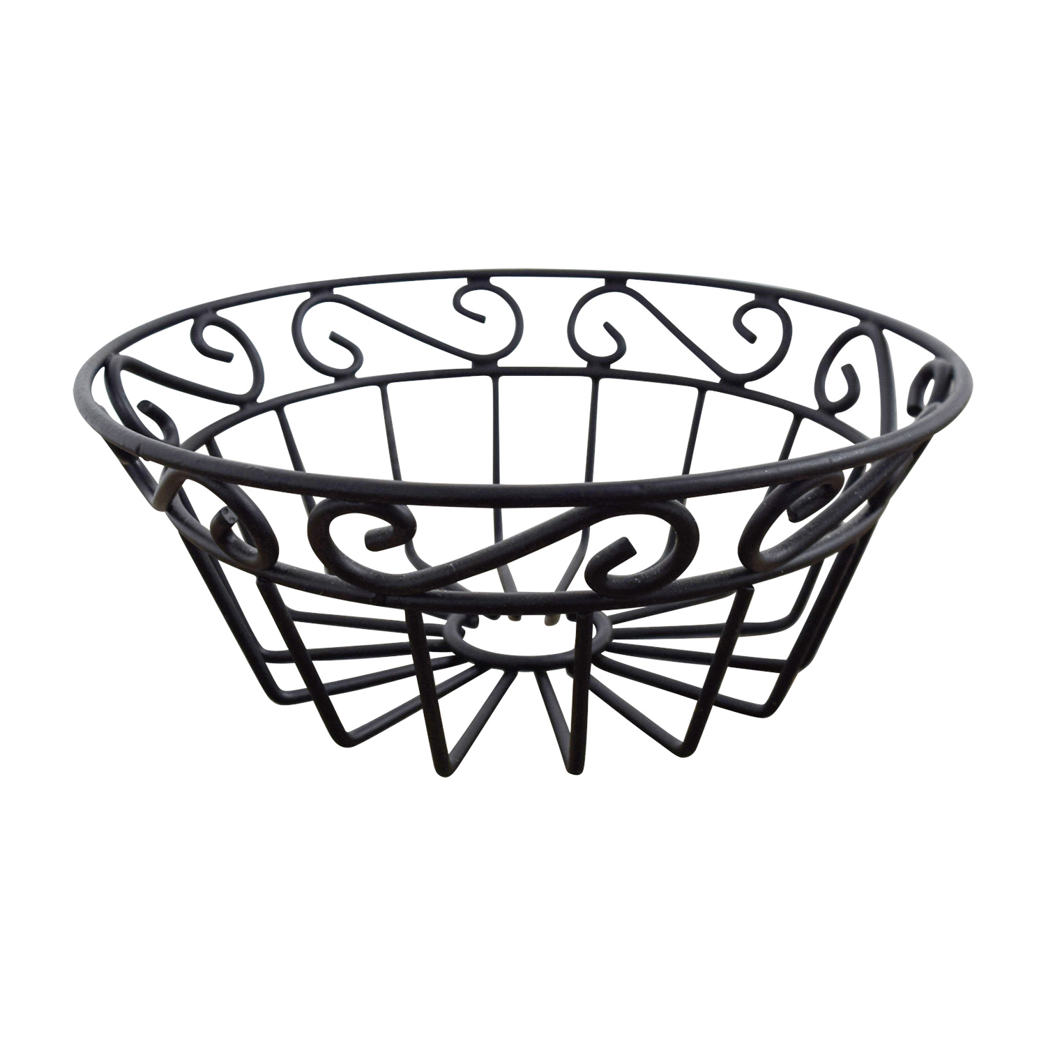 Macys Macys Black Metal Fruit Bowl Black