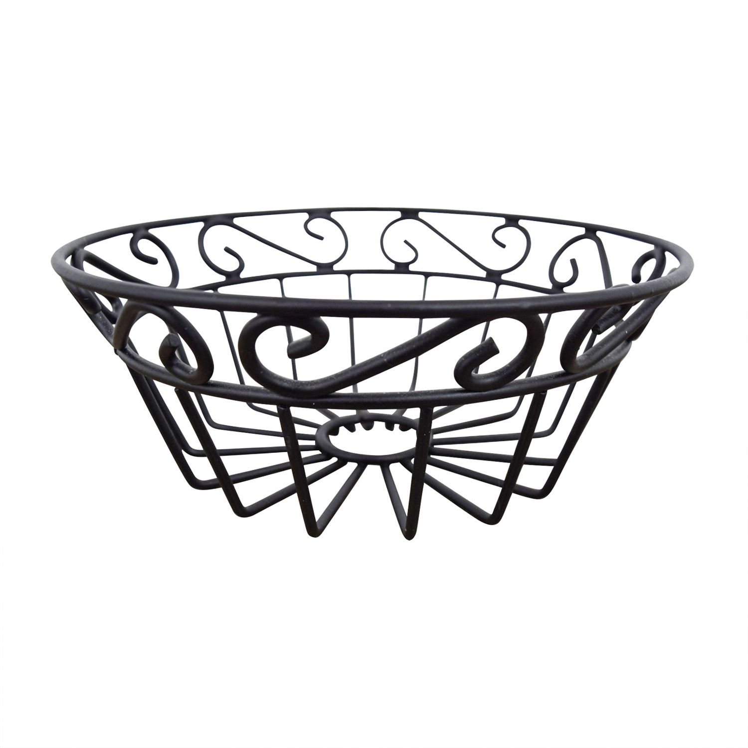 Macys Black Metal Fruit Bowl sale