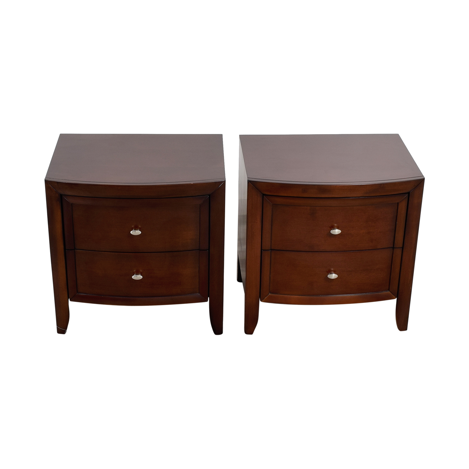 Macy's Macy's Yardley Two-Drawer Nightstands used