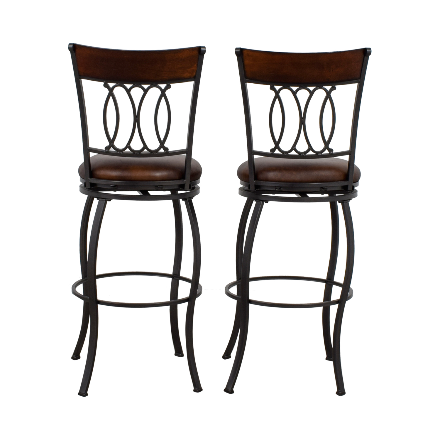 Bobs Furniture Bobs Furniture Brown Swivel Bar Stools on sale