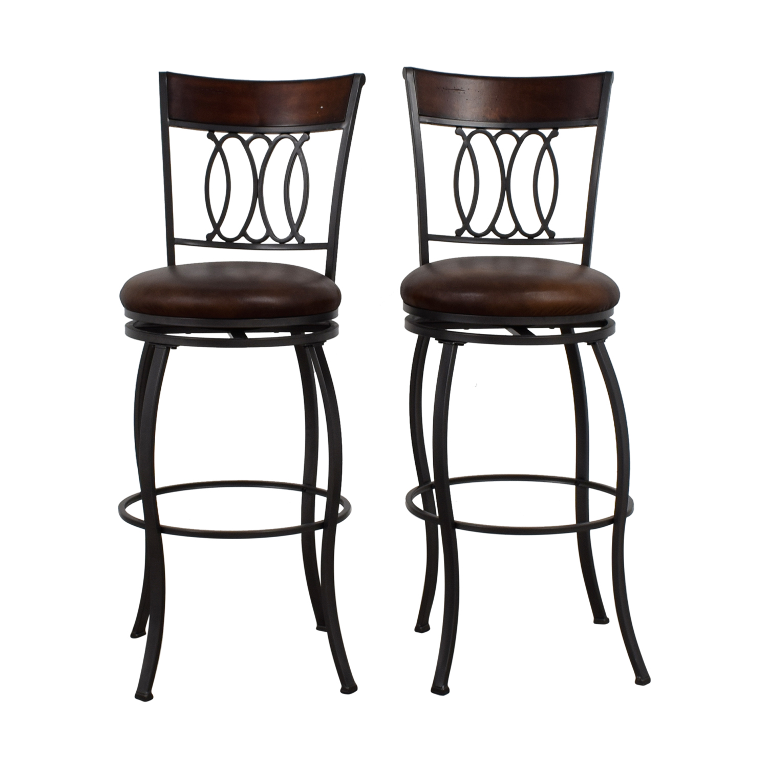 Bobs Furniture Bobs Furniture Brown Swivel Bar Stools Stools