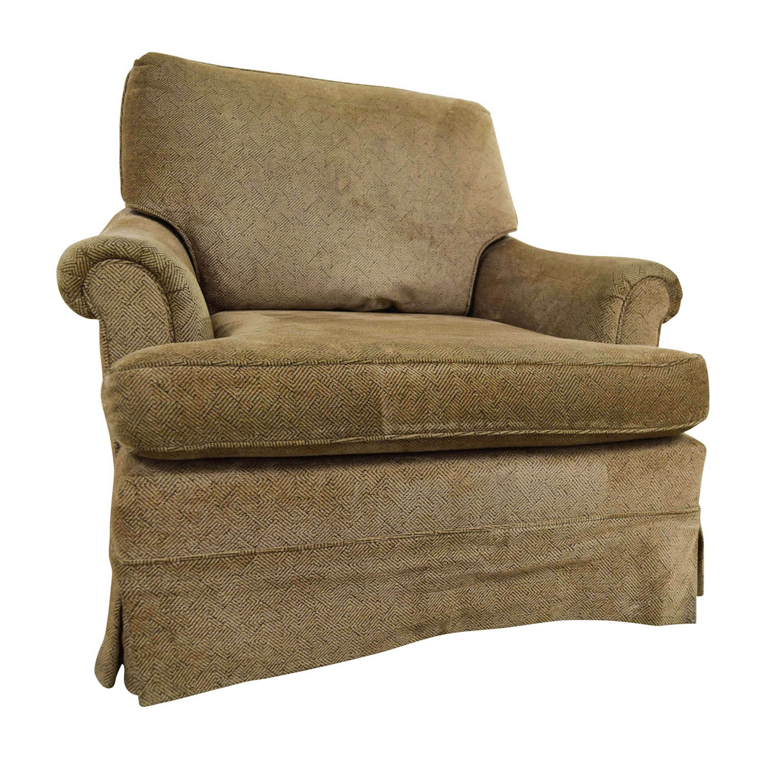 Beau ... Tan Upholstered Accent Chair With Foot Stool Discount ...