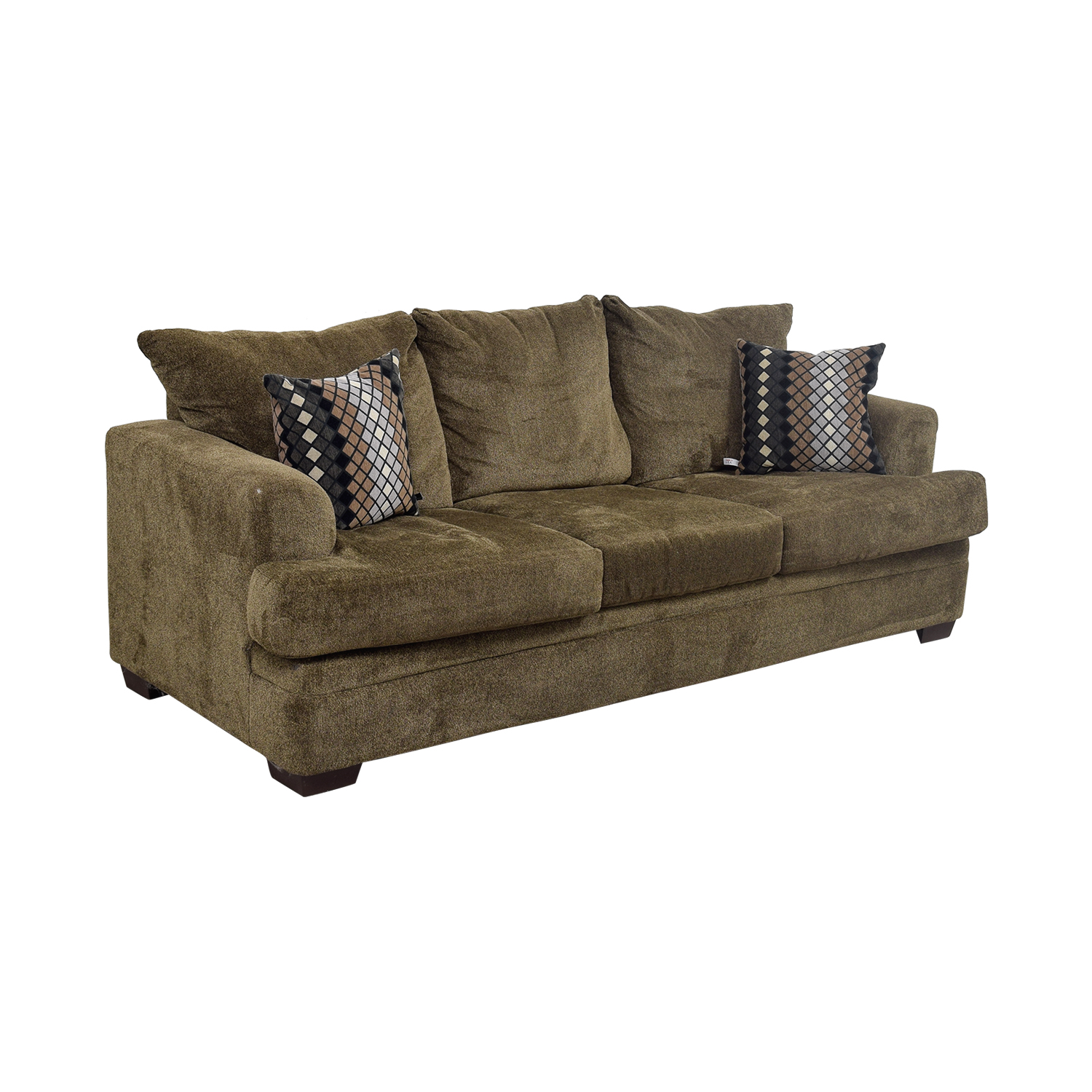 78 off three cushion tan sofa sofas