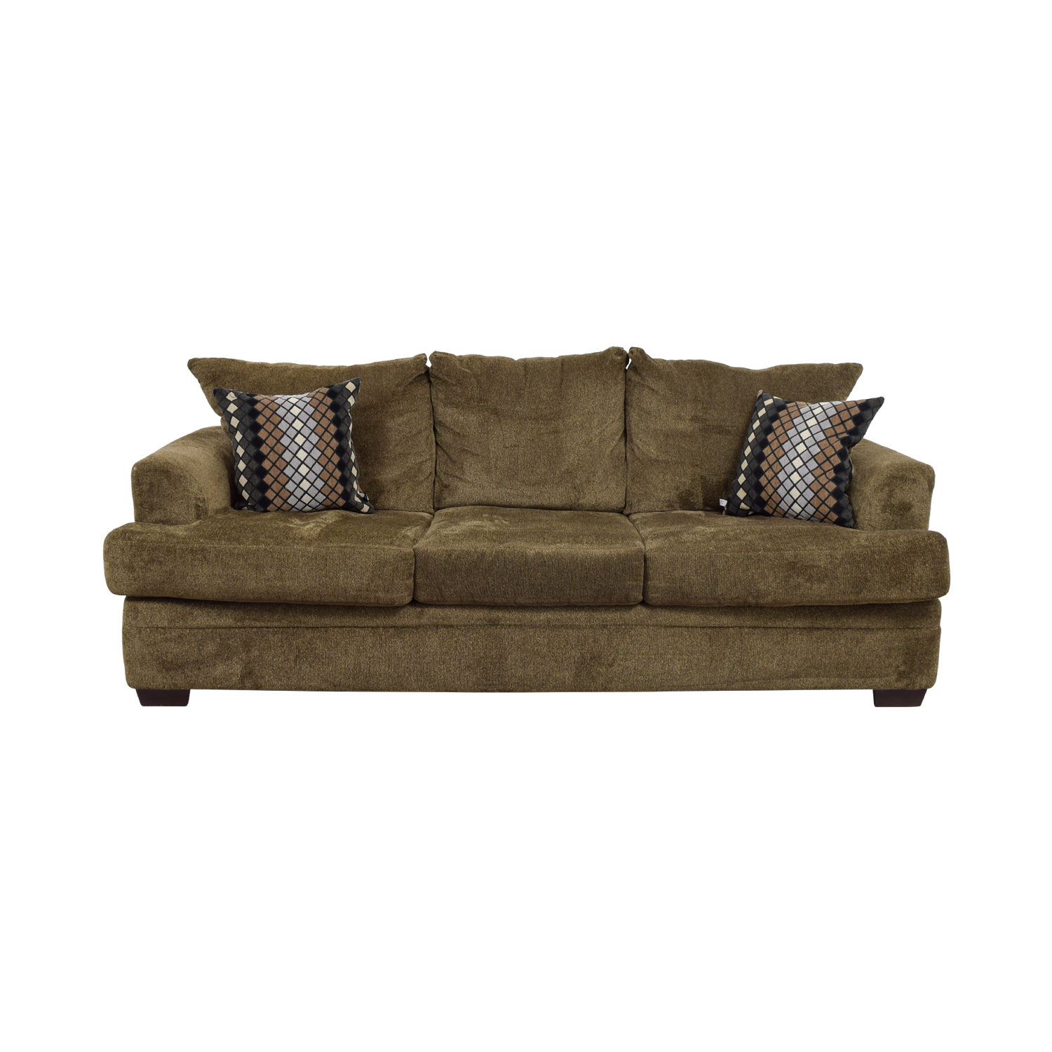 Three-Cushion Tan Sofa
