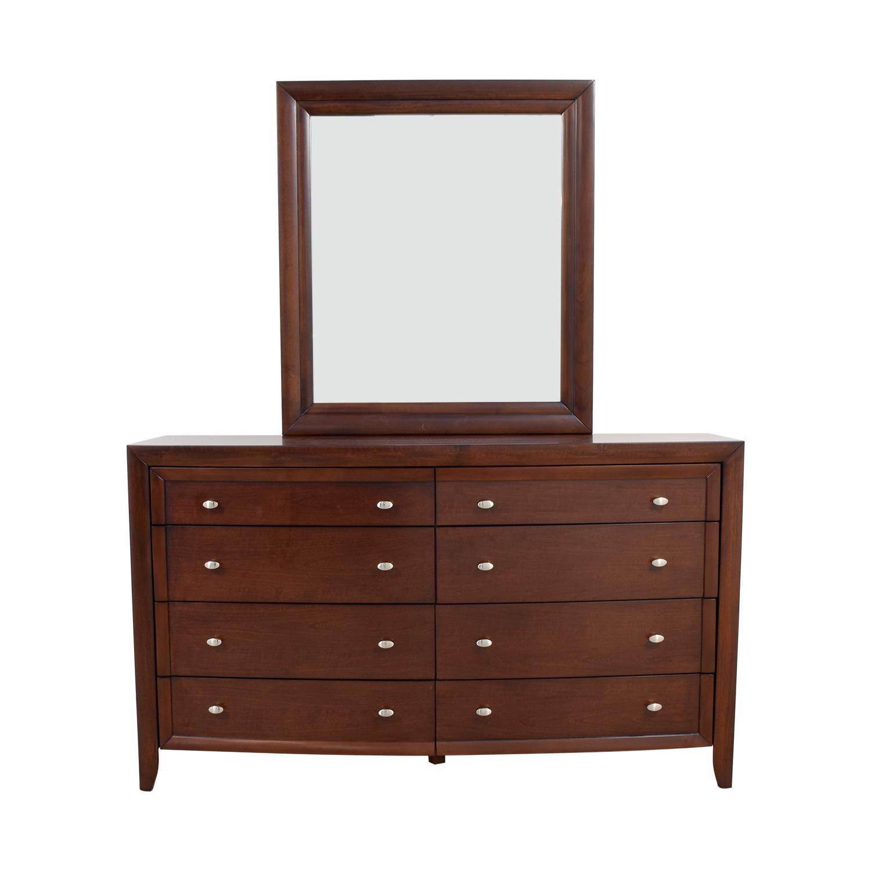 Macys Macys Yardley Eight-Drawer Dresser and Mirror Dressers