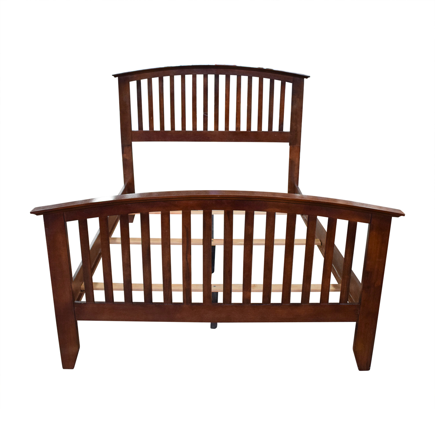Bobs Furniture Bobs Furniture Wood Caged Full Bed Frame on sale