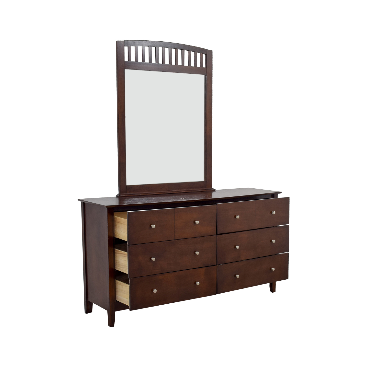 48 Off Bob 39 S Furniture Bob 39 S Furniture Eight Drawer Dresser With Caged Mirror Storage