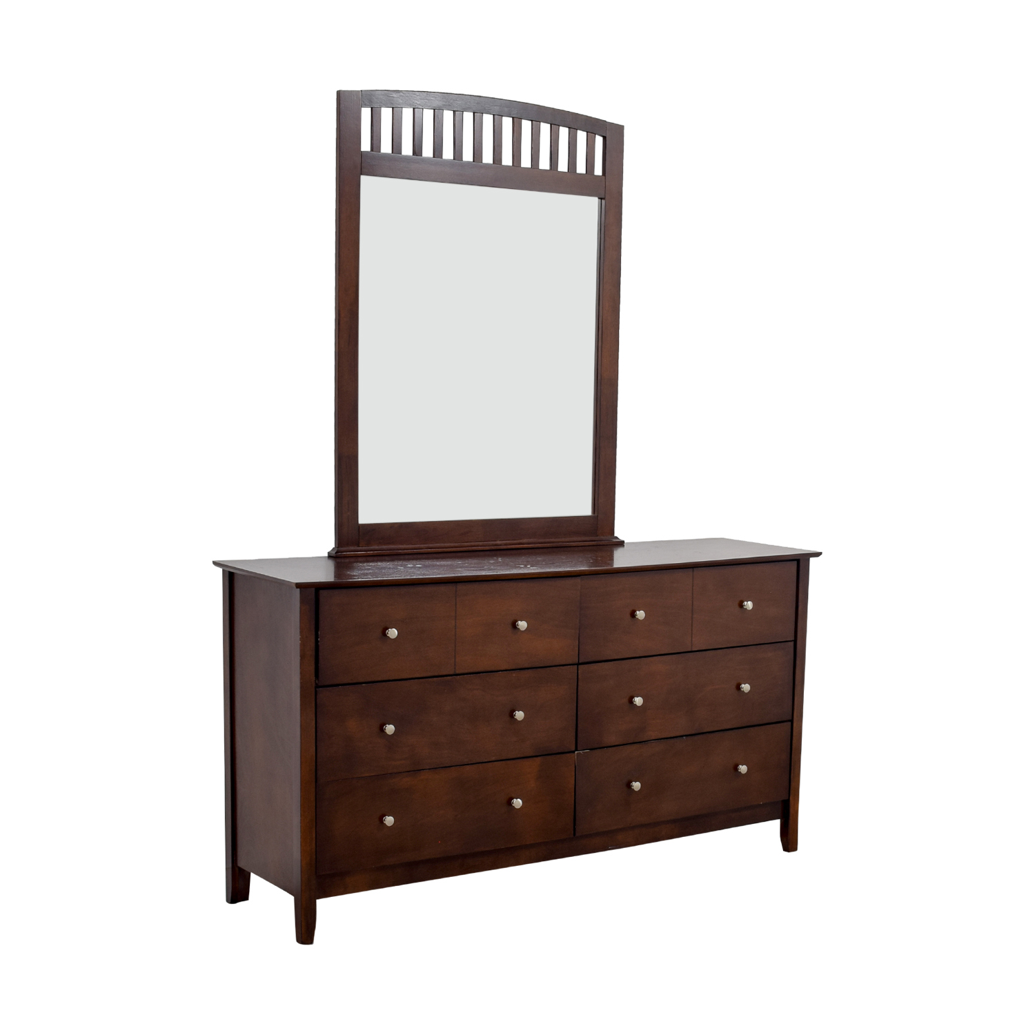 Bobs Furniture Bobs Furniture Eight-Drawer Dresser with Caged Mirror nyc