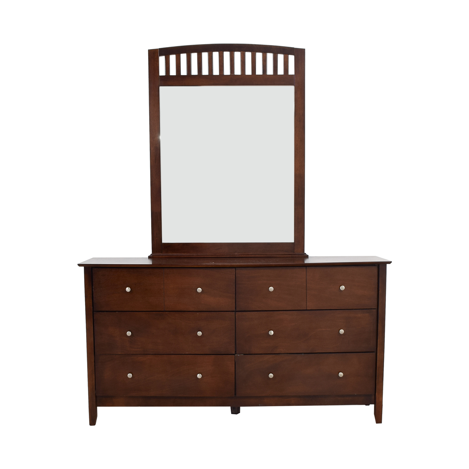 Bobs Furniture Bobs Furniture Eight-Drawer Dresser with Caged Mirror