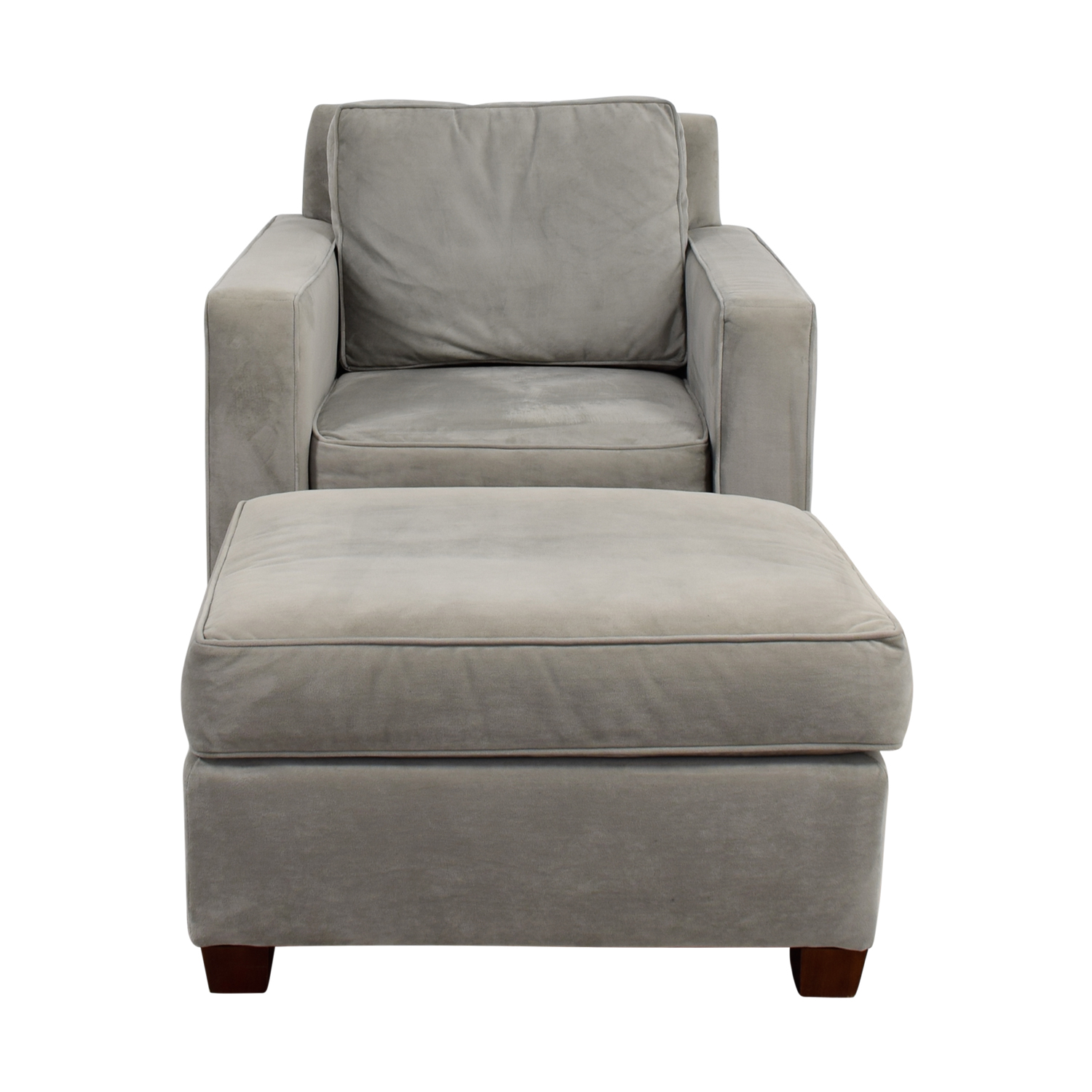 Shop West Elm Grey Accent Chair And Ottoman West Elm Accent Chairs ...