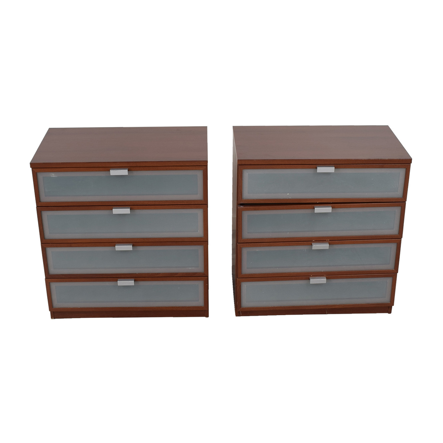 Crate & Barrel Crate & Barrel Wood and Glass Dressers second hand