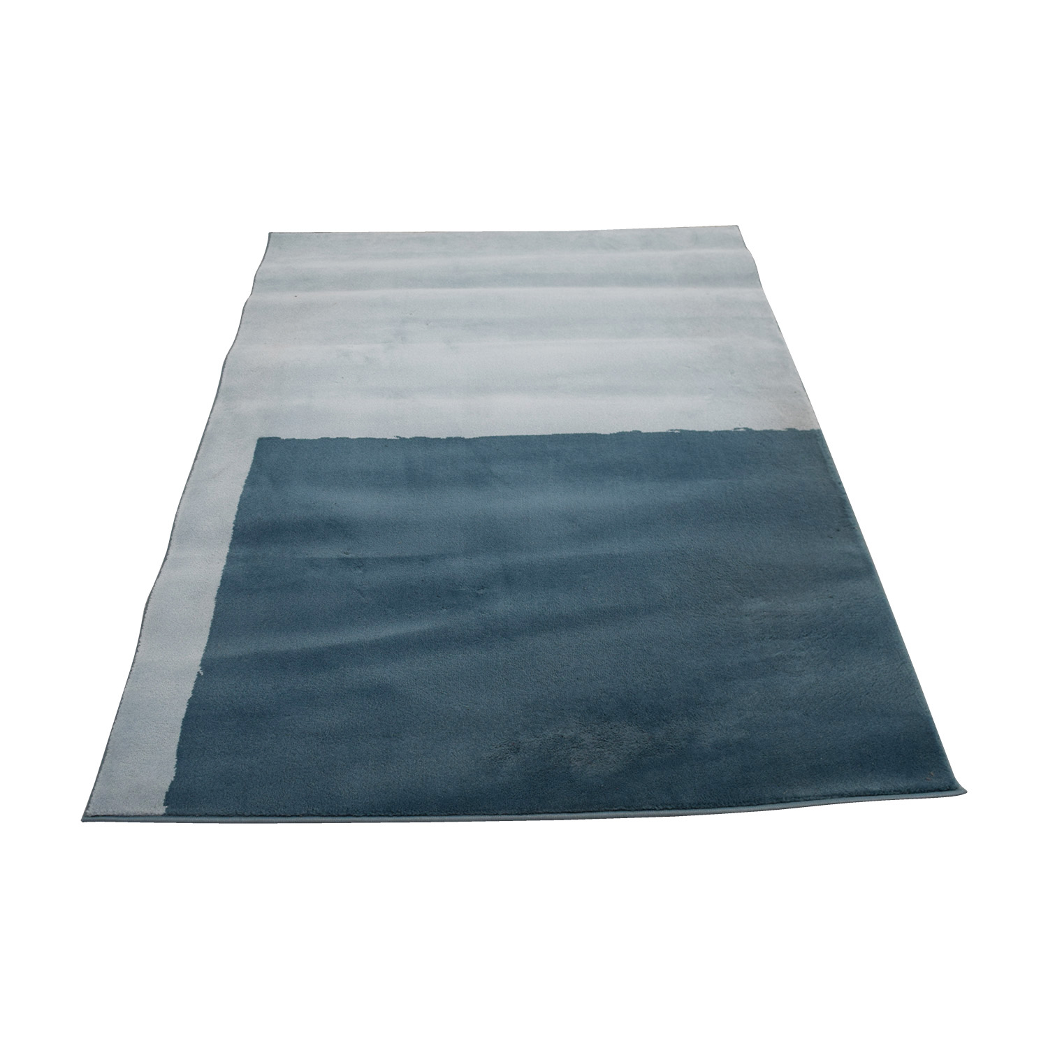 Crate & Barrel Two Toned  Blue Rug sale