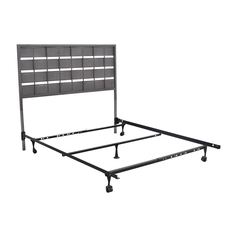 CB2 Metal Headboard Queen Bed Frame / Beds
