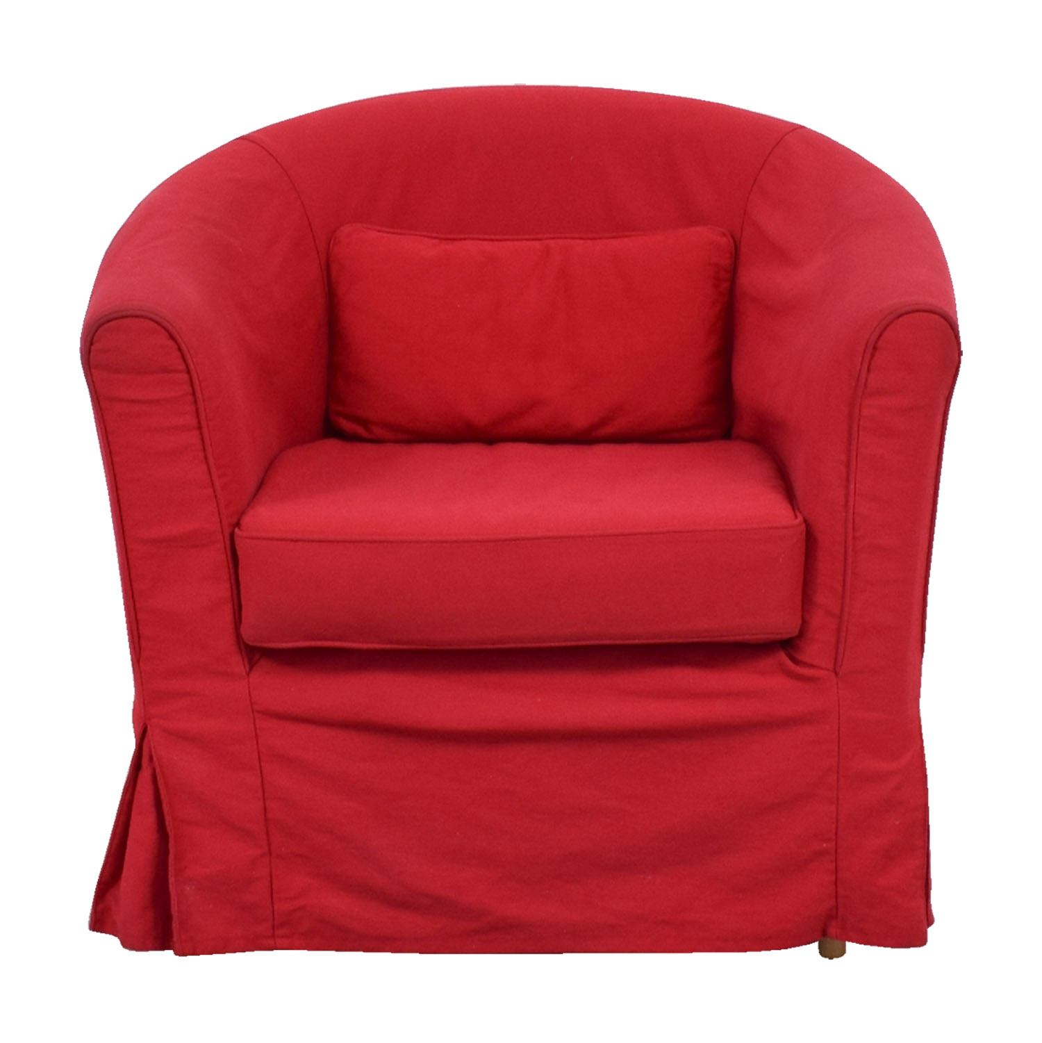 Crate barrel crate barrel red upholstered chair with removable cover second hand