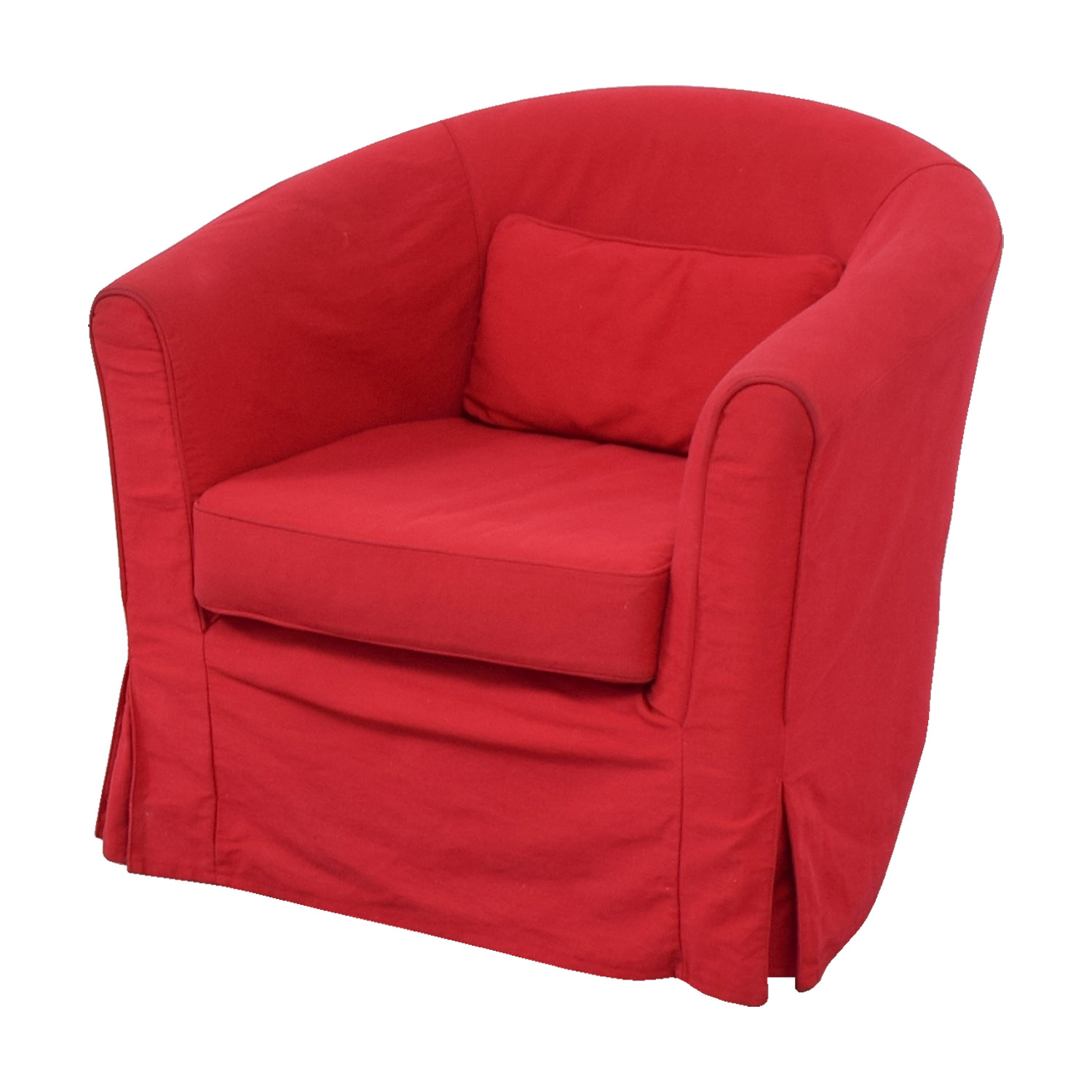 74 off crate barrel crate barrel red upholstered for Red and white upholstered chairs