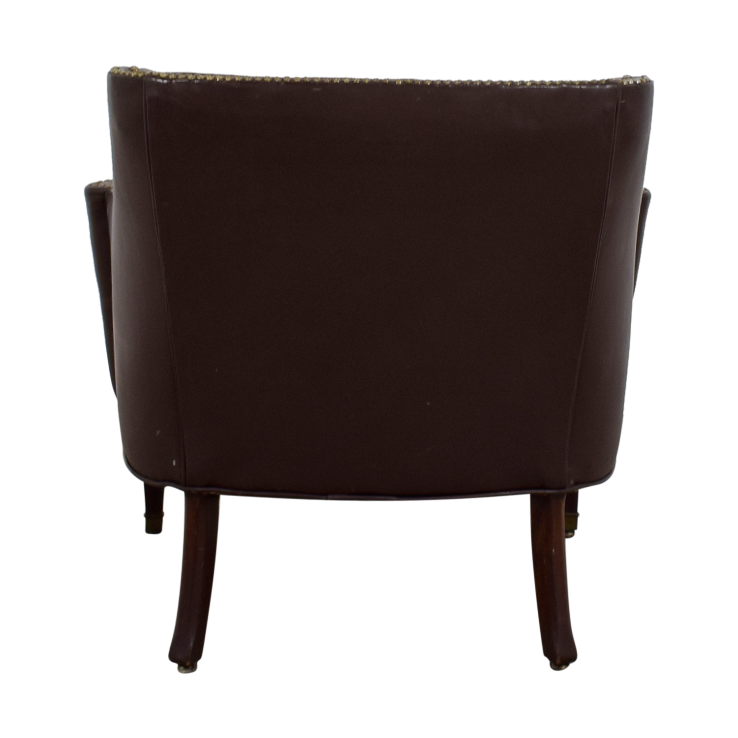 Pier 1 Imports Pier 1 Imports Brown Leather Side Chair
