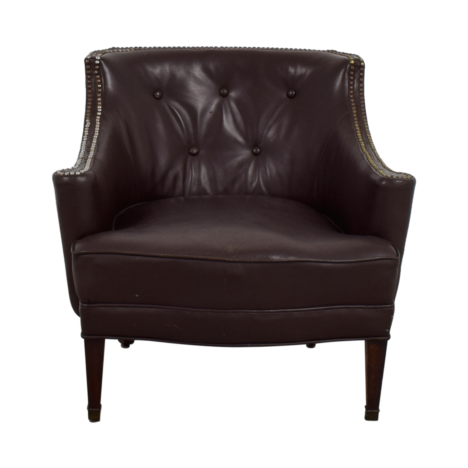 Pier 1 Imports Pier 1 Imports Brown Leather Side Chair price