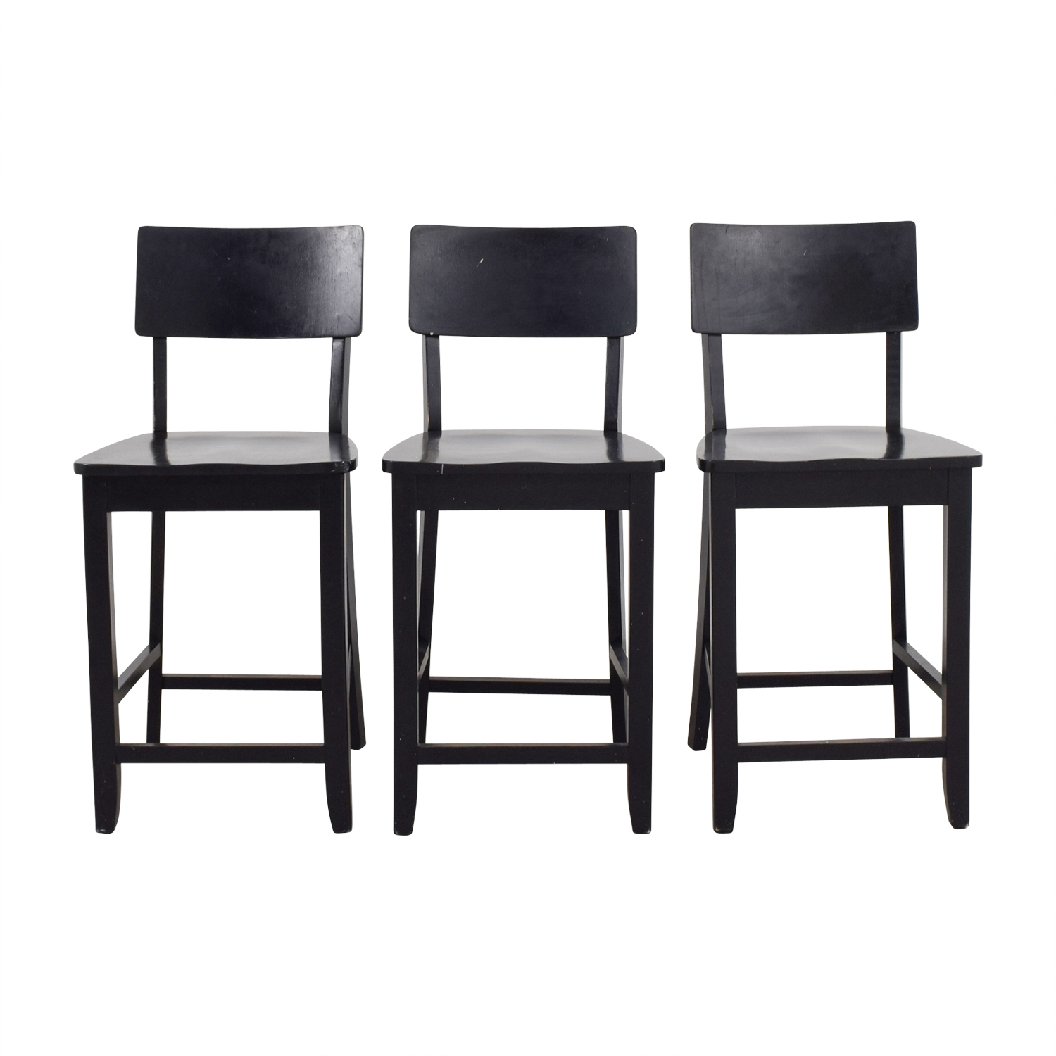 Crate & Barrel Crate & Barrel Black Wood Bar Stools on sale