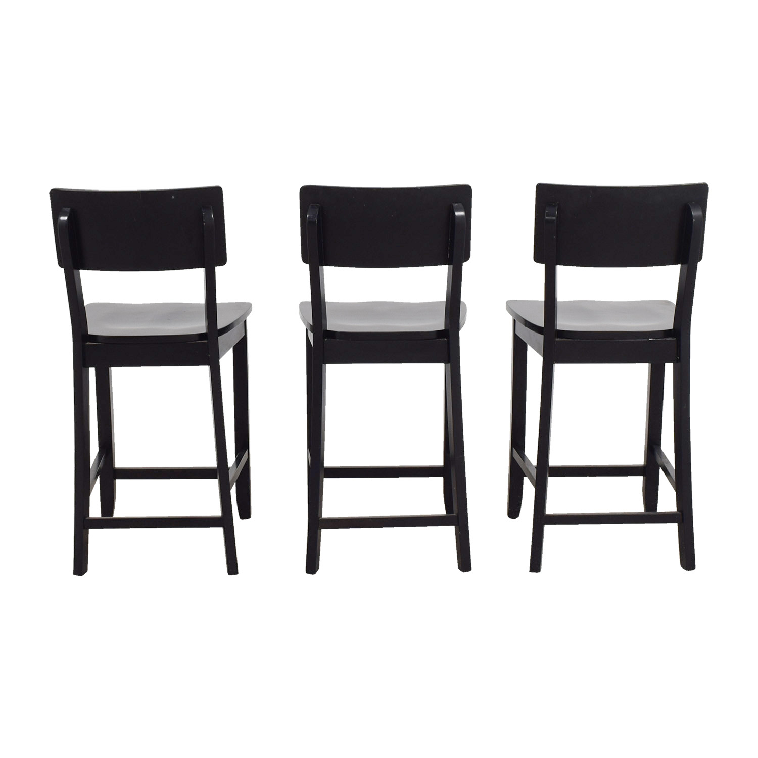 74 off crate barrel crate barrel black wood bar stools chairs. Black Bedroom Furniture Sets. Home Design Ideas