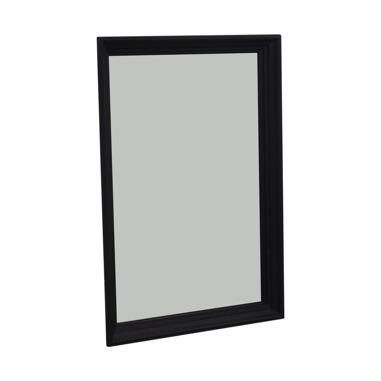 Ethan Allen Ethan Allen Art Deco Black Wood Framed Mirror Mahogany / Glass