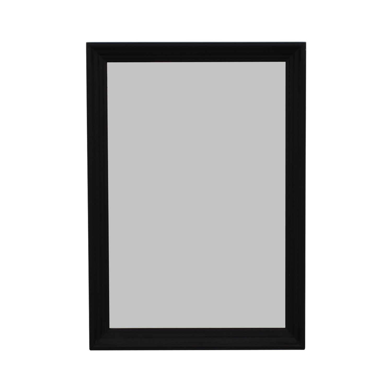 Ethan Allen Ethan Allen Art Deco Black Wood Framed Mirror discount