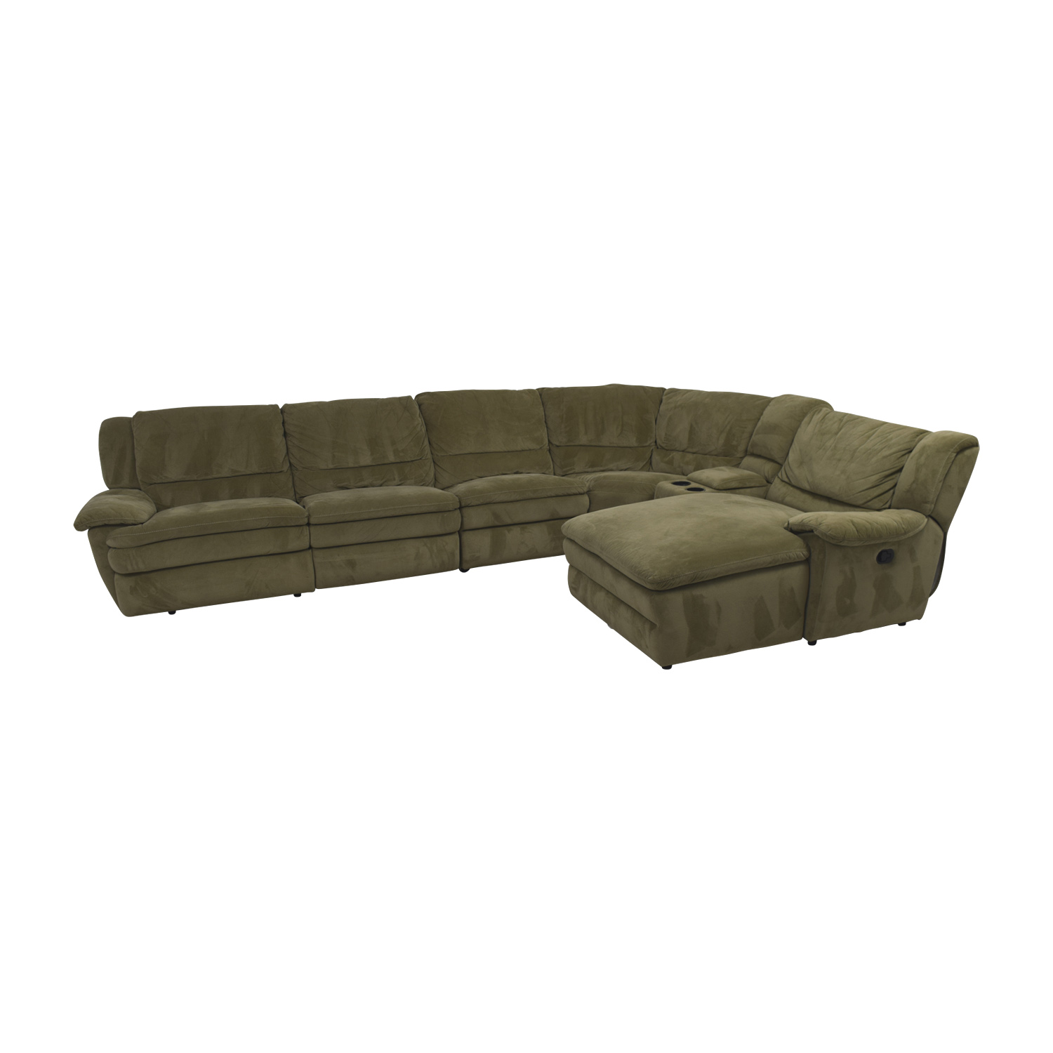 buy Bob's Furniture Grey L-Shaped Reclining Sectional Bob's Furniture