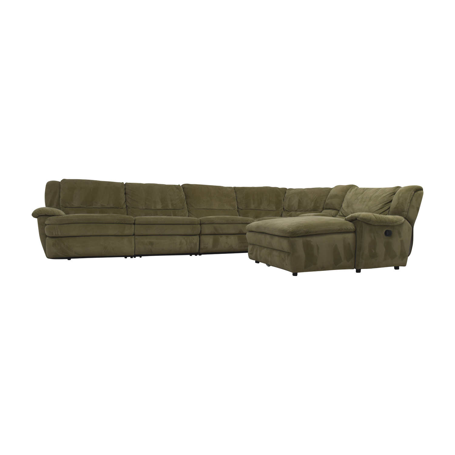Bob's Furniture Bob's Furniture Grey L-Shaped Reclining Sectional price