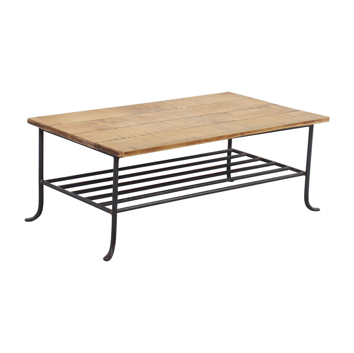 56 off rustic wrought iron and wood coffee table tables With rustic wood and wrought iron coffee table