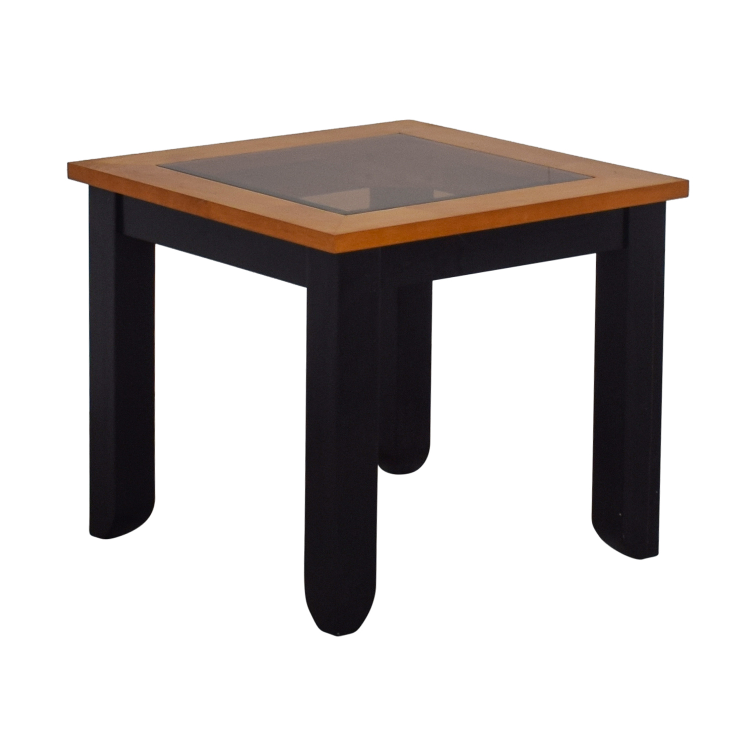 ... Buy Smoke Colored Glass And Wood End Table ...