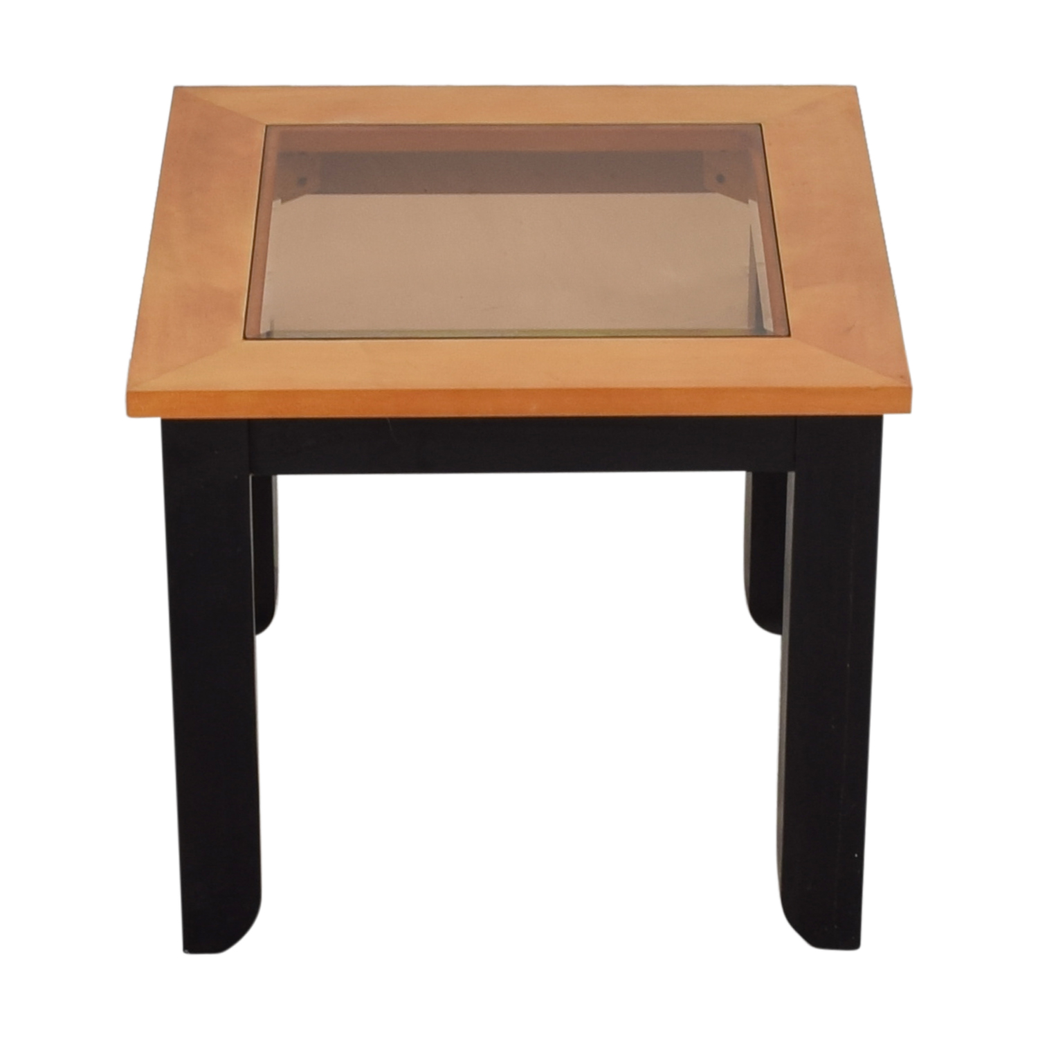 buy Smoke Colored Glass and Wood End Table online