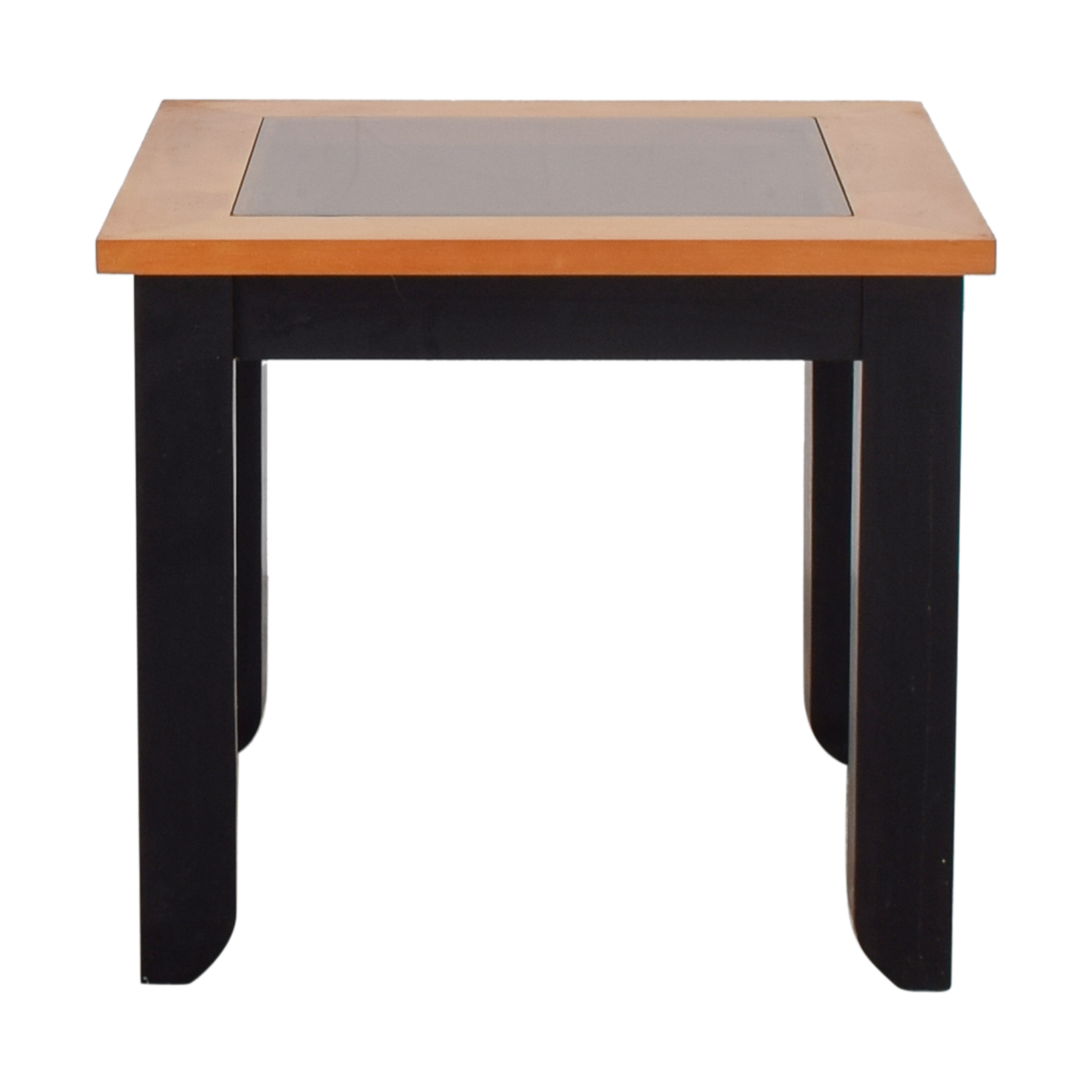shop Smoke Colored Glass and Wood End Table