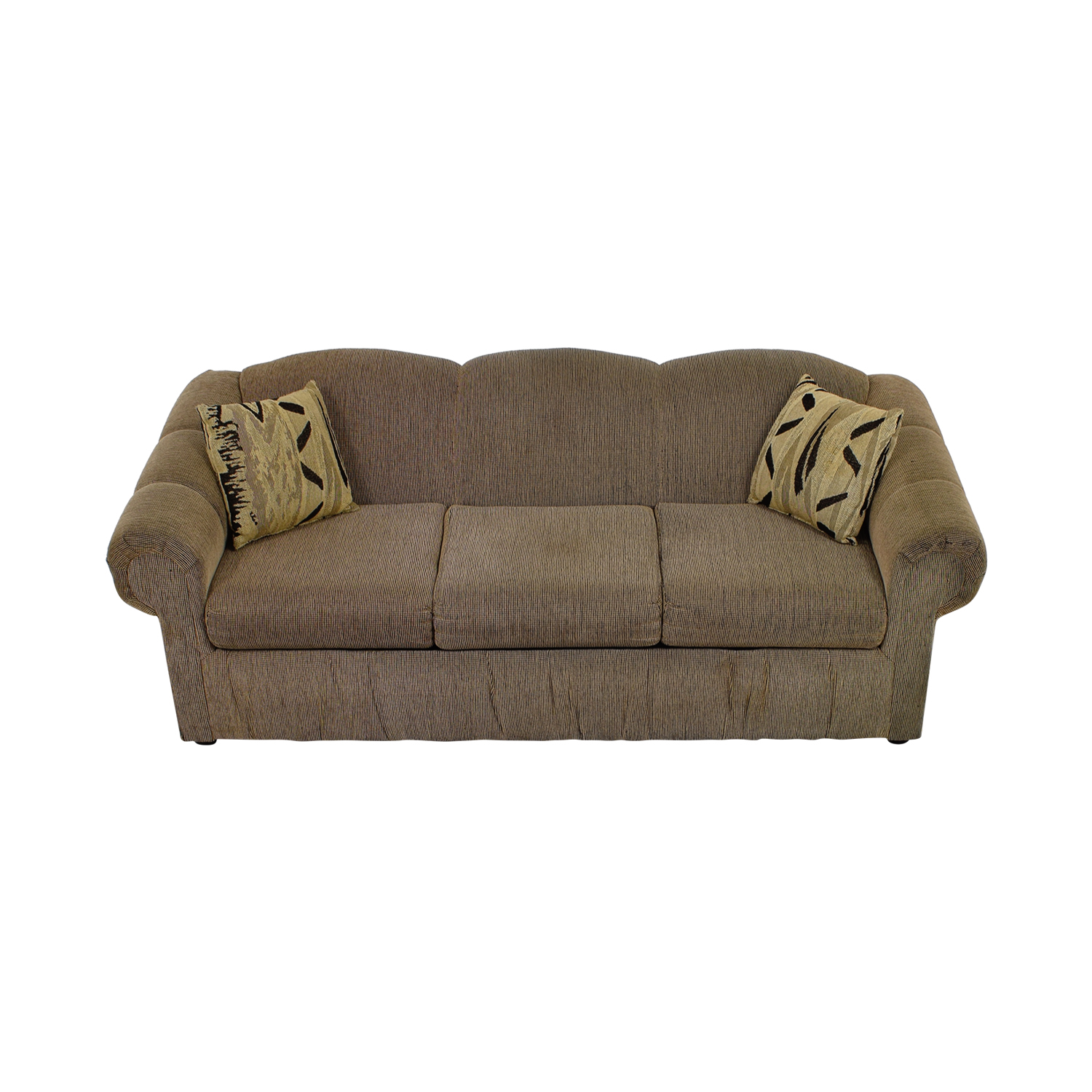 Unkown Tan Three-Cushion Sofa on sale