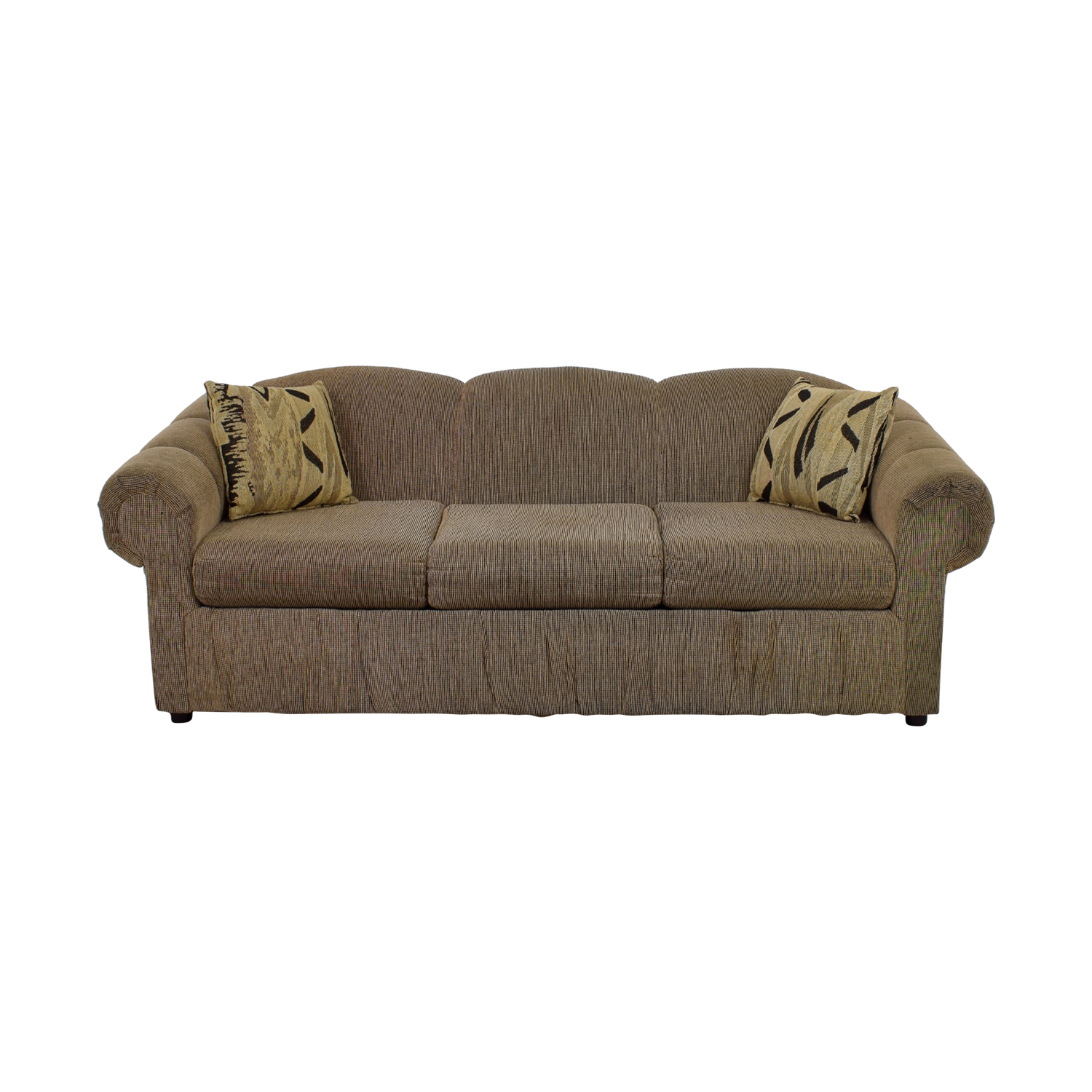 Tan Three-Cushion Sofa Unkown