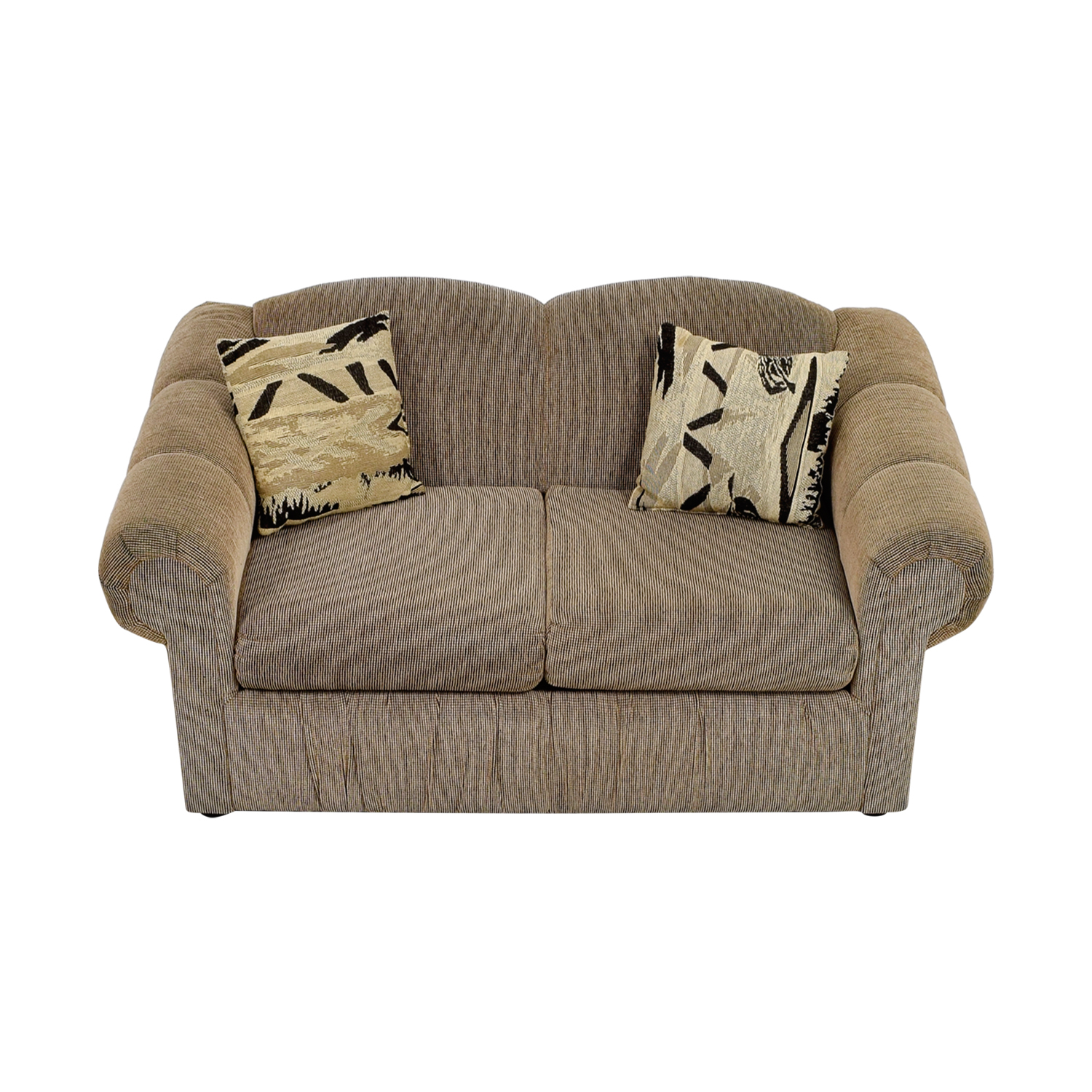 Tan Two-Cushion Love Seat discount