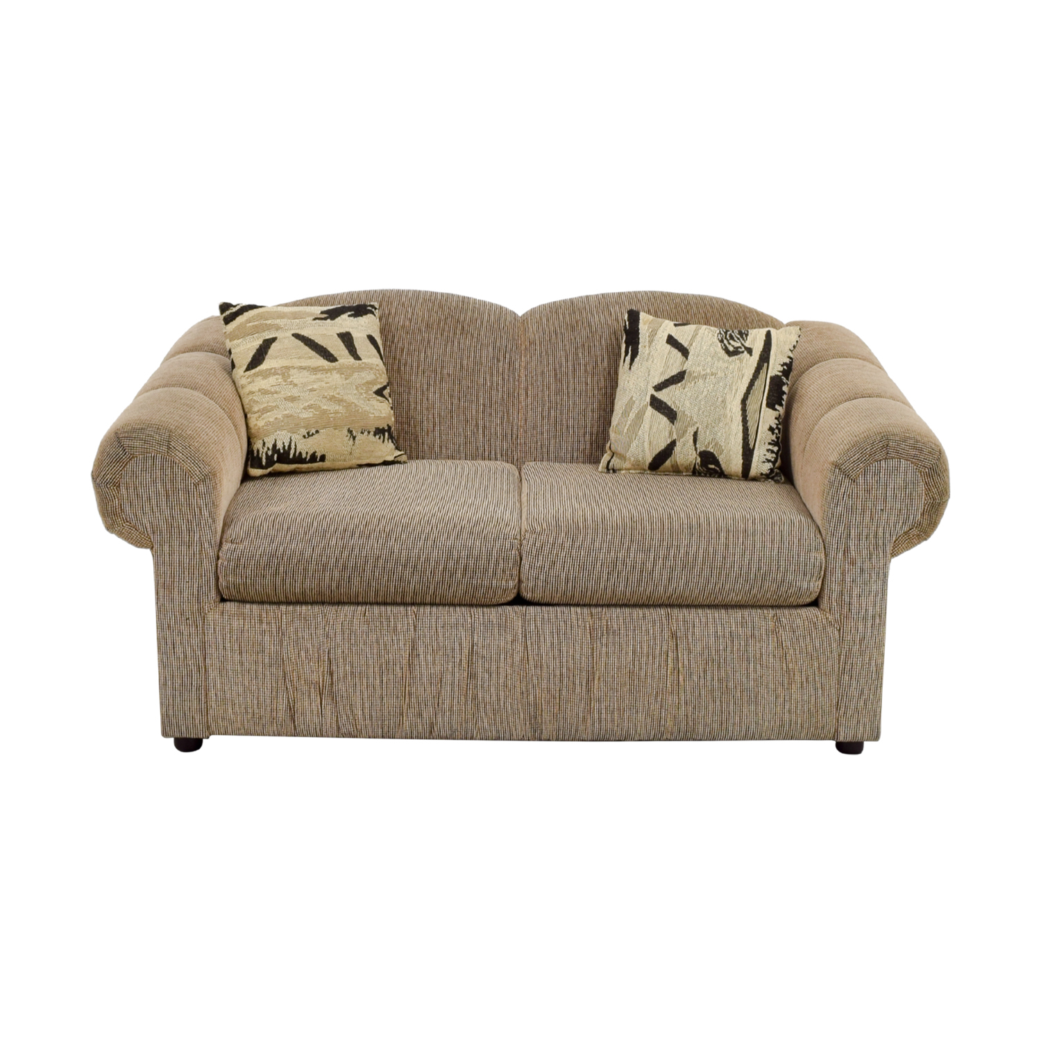 Tan Two-Cushion Love Seat dimensions