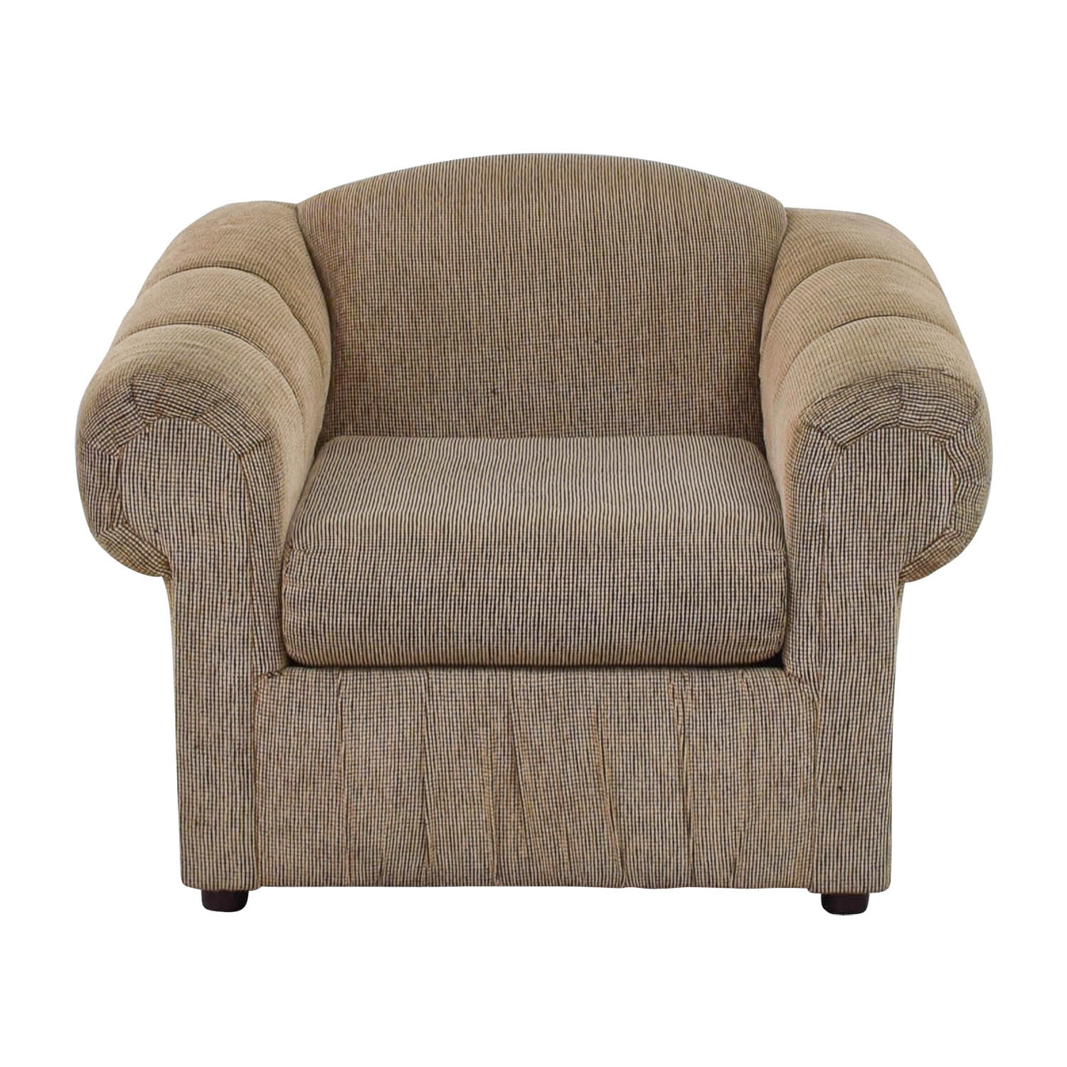 Tan Rolled Arm Accent Chair Chairs