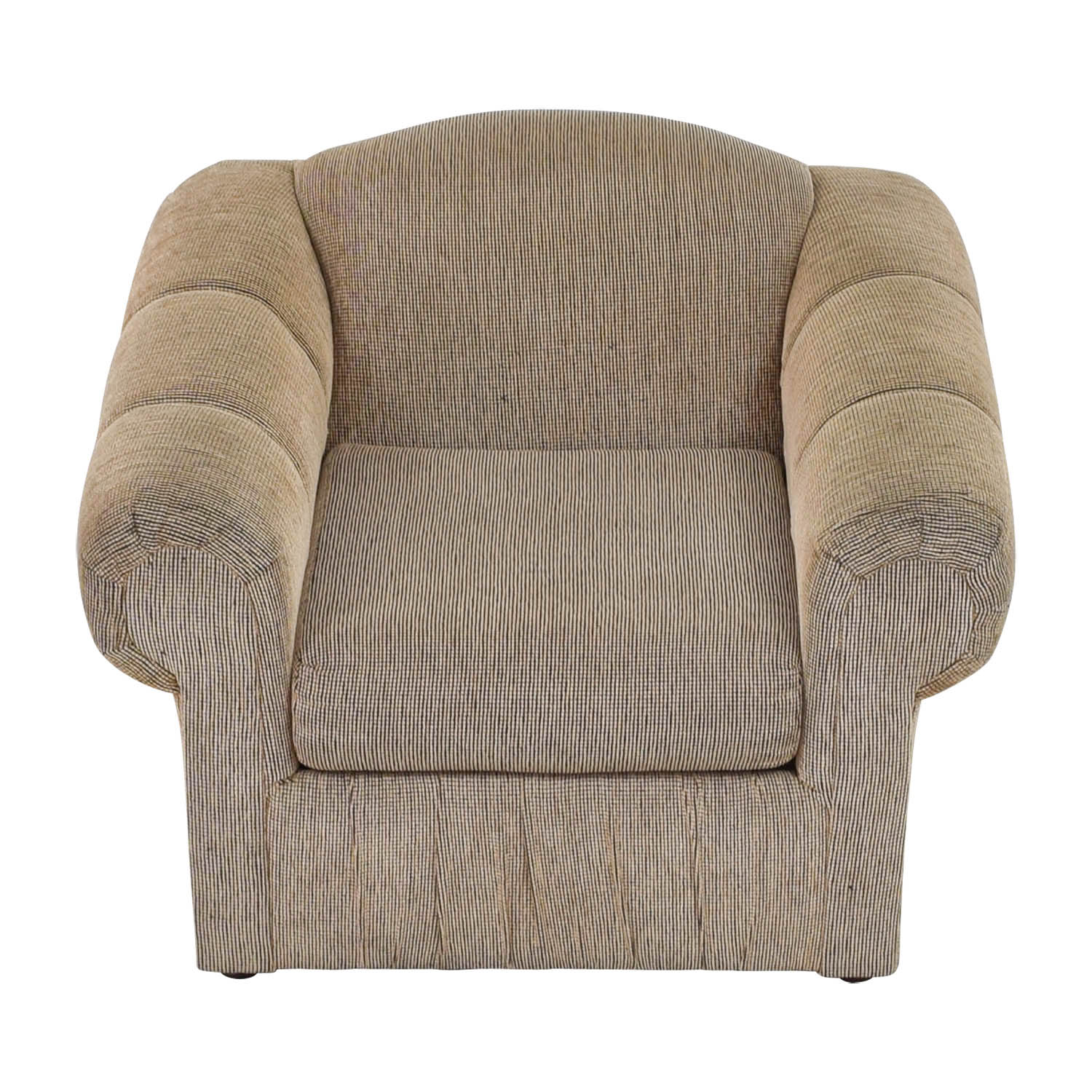 Tan Rolled Arm Accent Chair