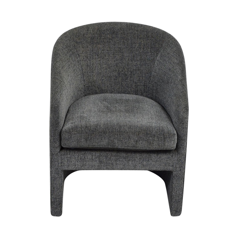... Donghia Donghia Navy Tweed Barrel Chair Dimensions ...
