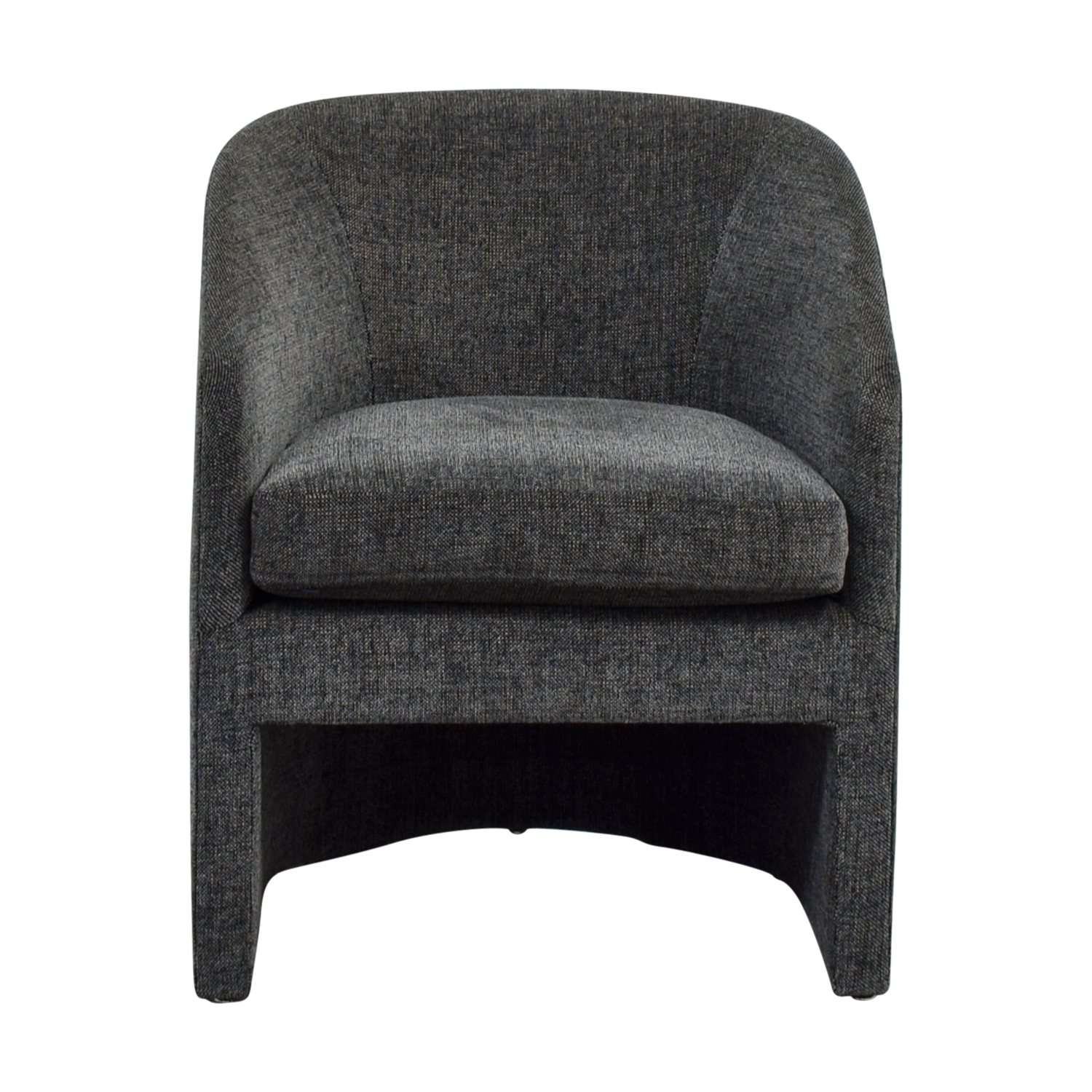 Donghia Navy Tweed Barrel Chair / Chairs