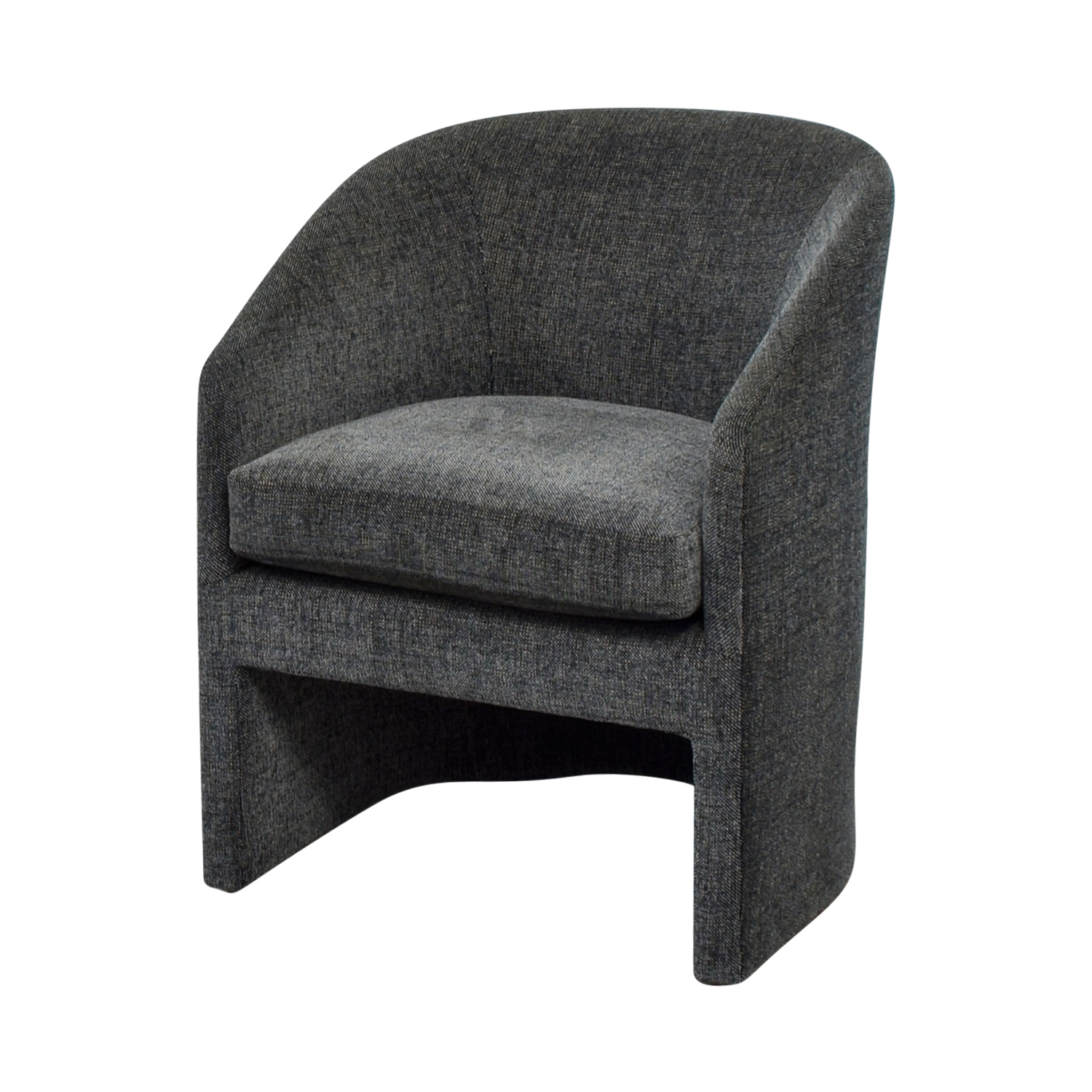 79 Off Donghia Donghia Navy Tweed Barrel Chair Chairs