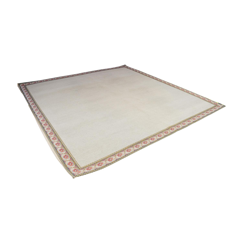 Stark Carpet Stark Carpet Tan with Floral Border Rug used