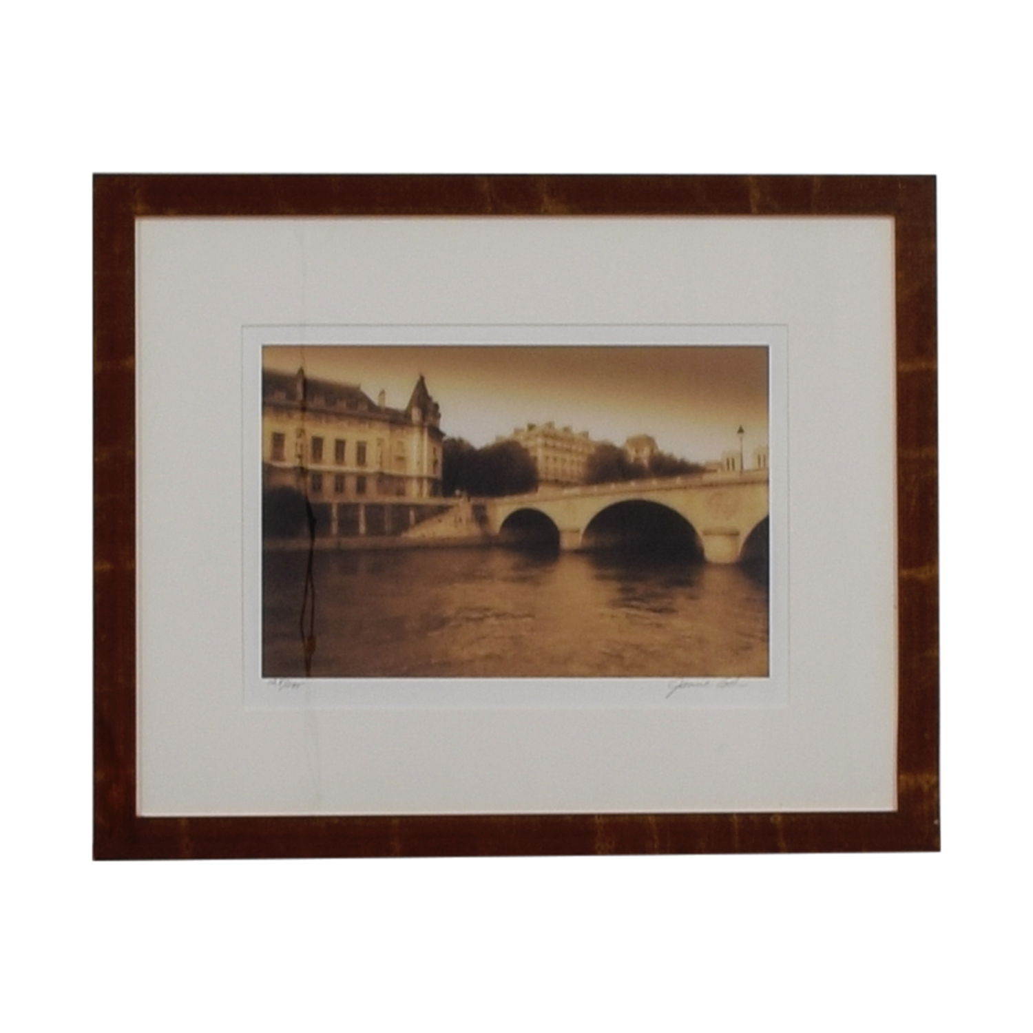 European Scenic Bridge Scene Framed Artwork nyc