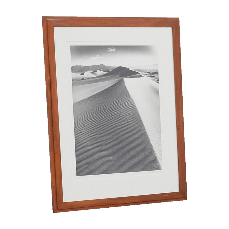 Desert Sand Framed Artwork brown/White