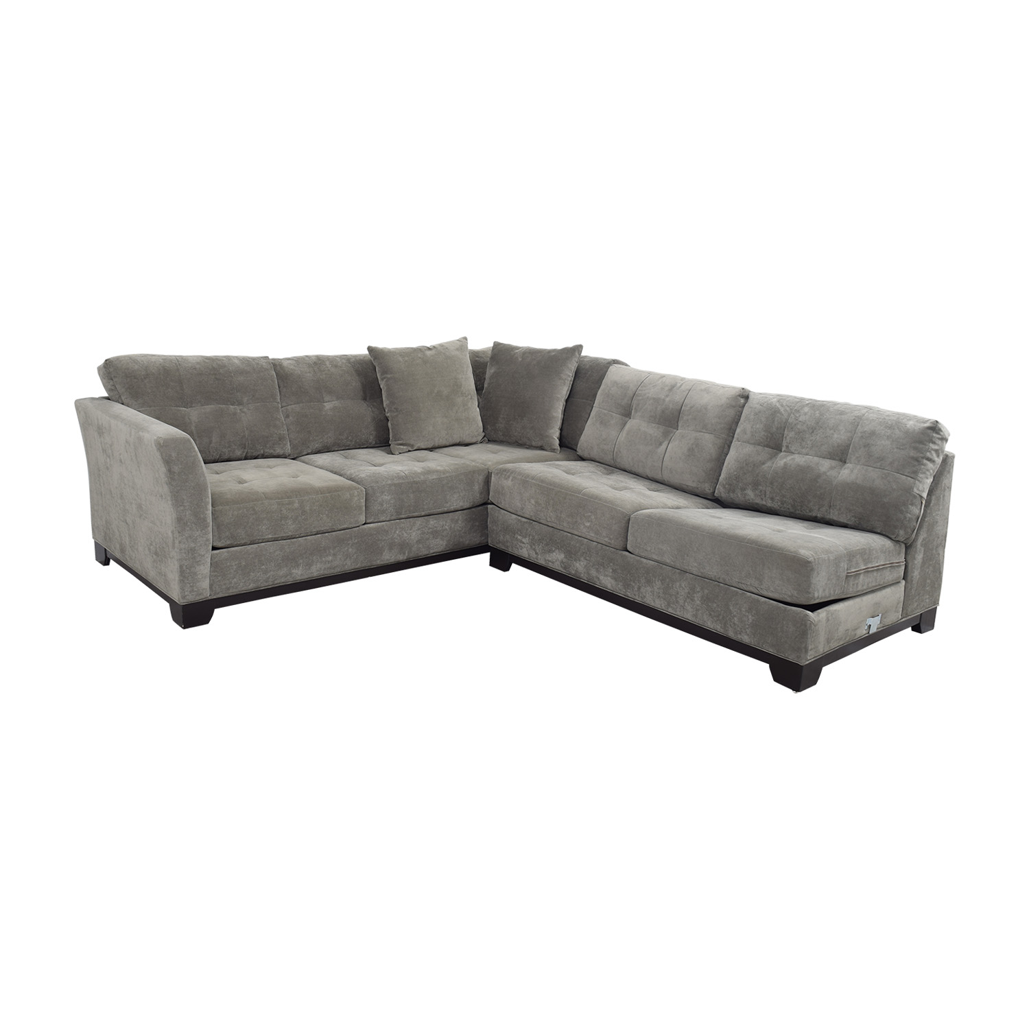 Macy S Gypsy Grey L Shaped Sleeper Sectional Used