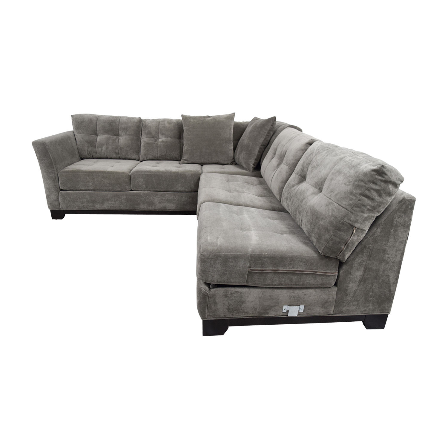 Macy's Gypsy Grey L-Shaped Sleeper Sectional / Sofas