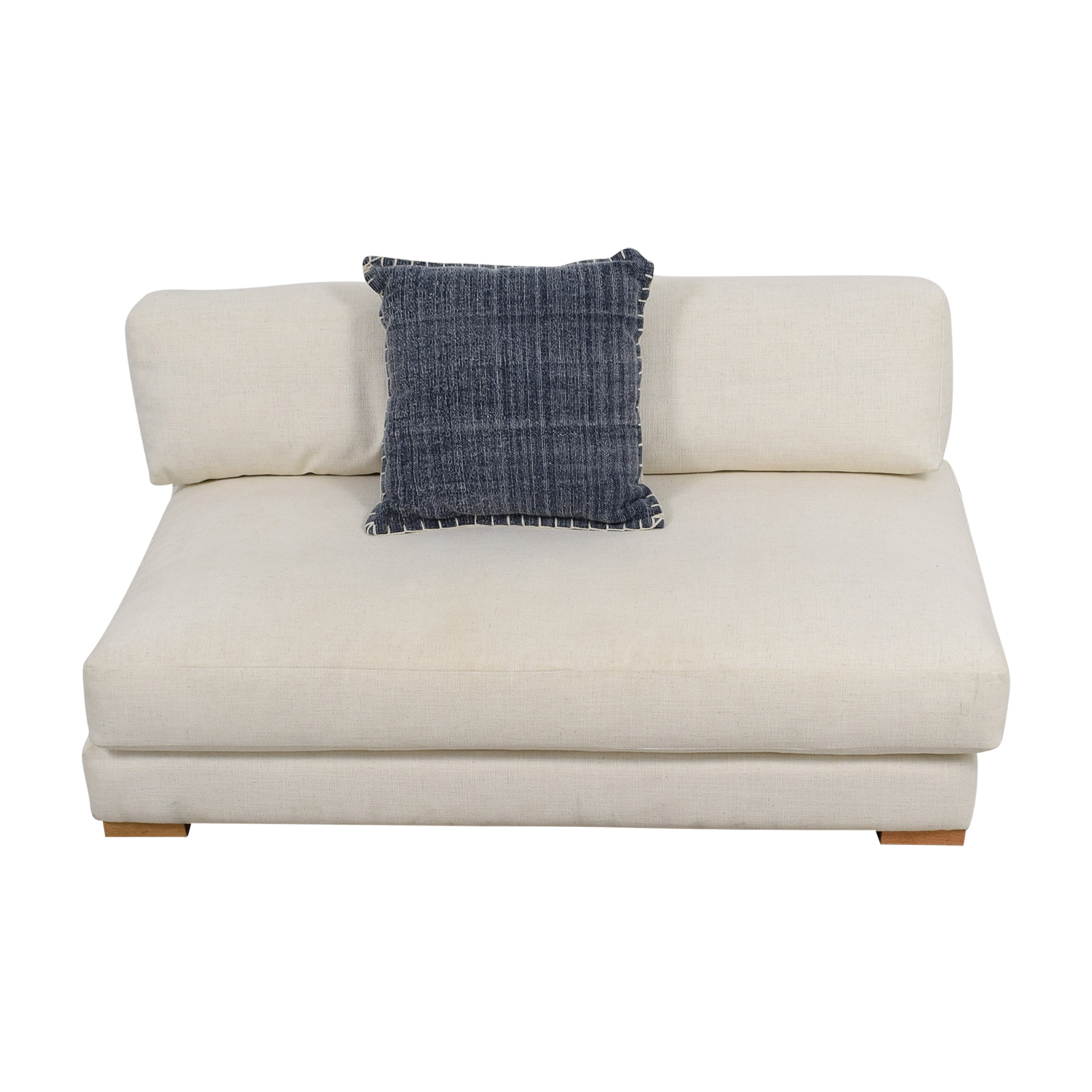 CB2 CB2 Piazza White Single Cushion Sofa for sale