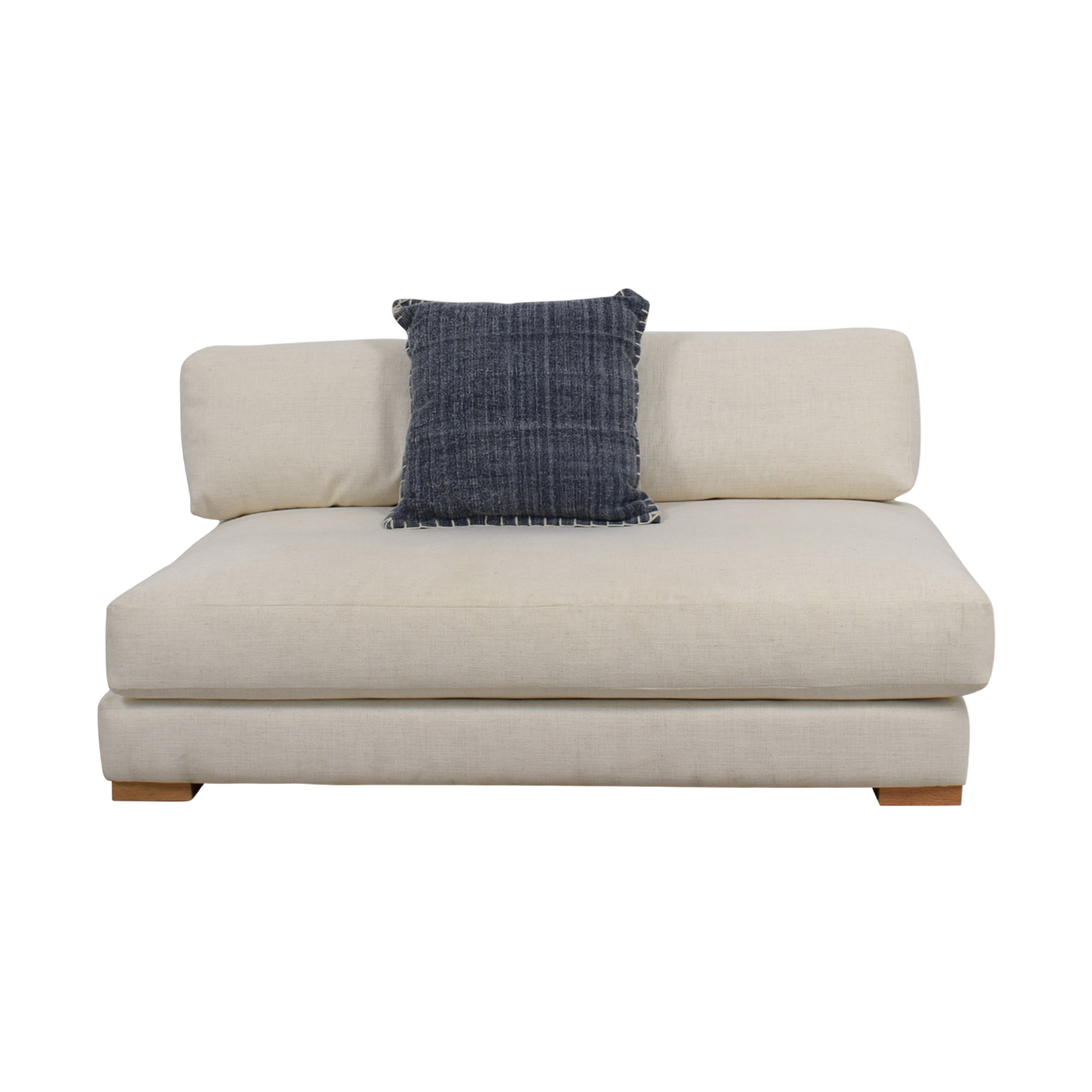 shop CB2 Piazza White Single Cushion Sofa CB2