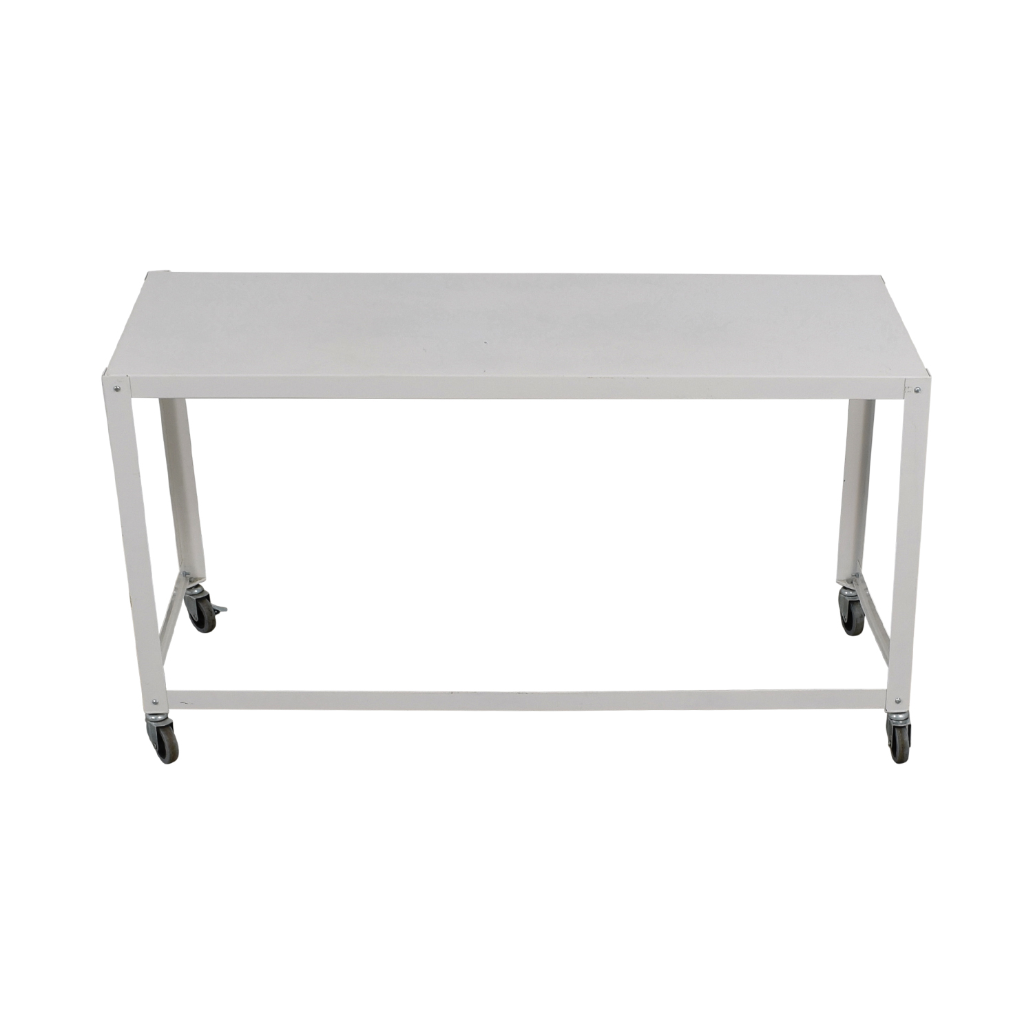 CB2 Go-Cart White Rolling Desk CB2